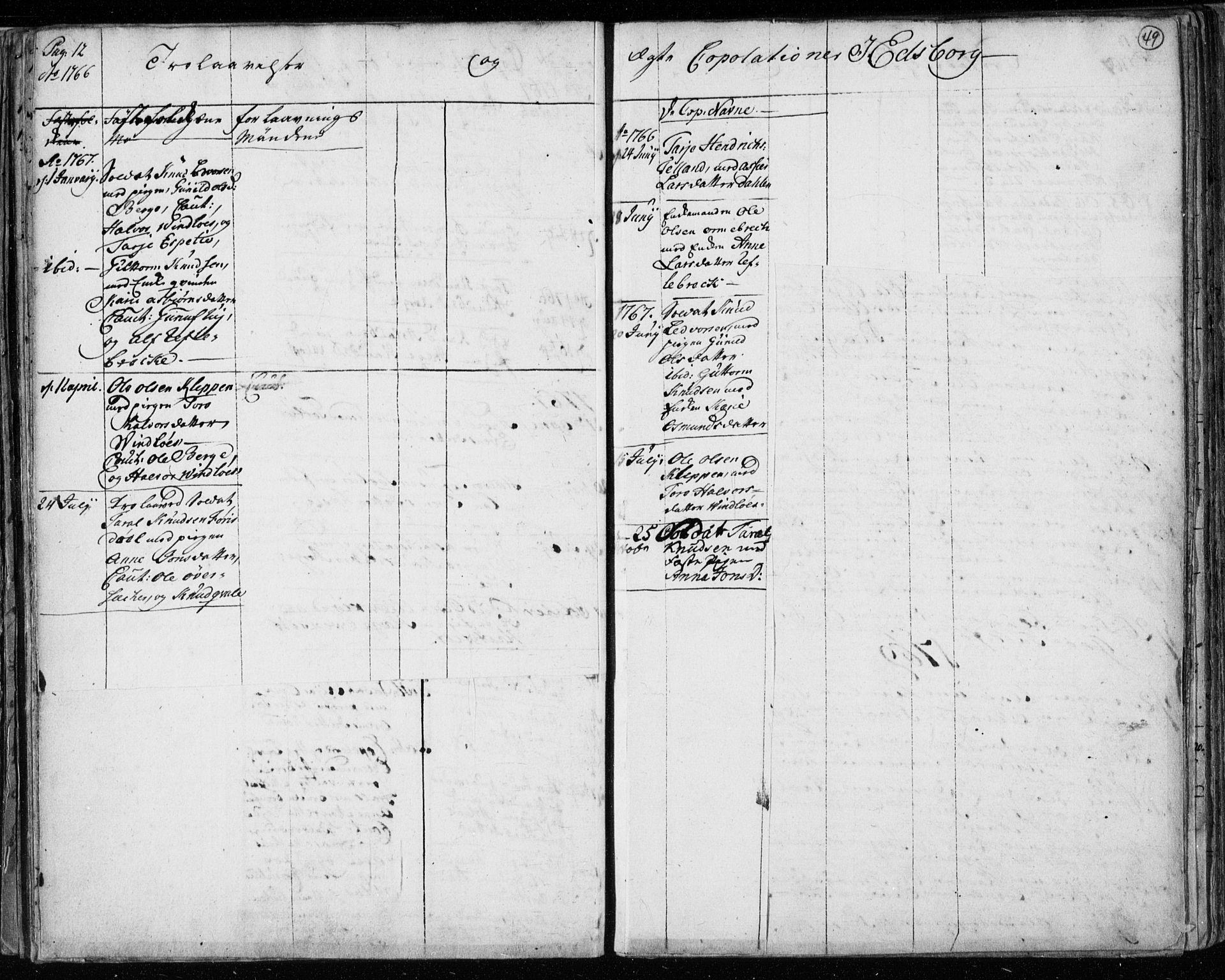 SAKO, Lårdal kirkebøker, F/Fa/L0003: Ministerialbok nr. I 3, 1754-1790, s. 49