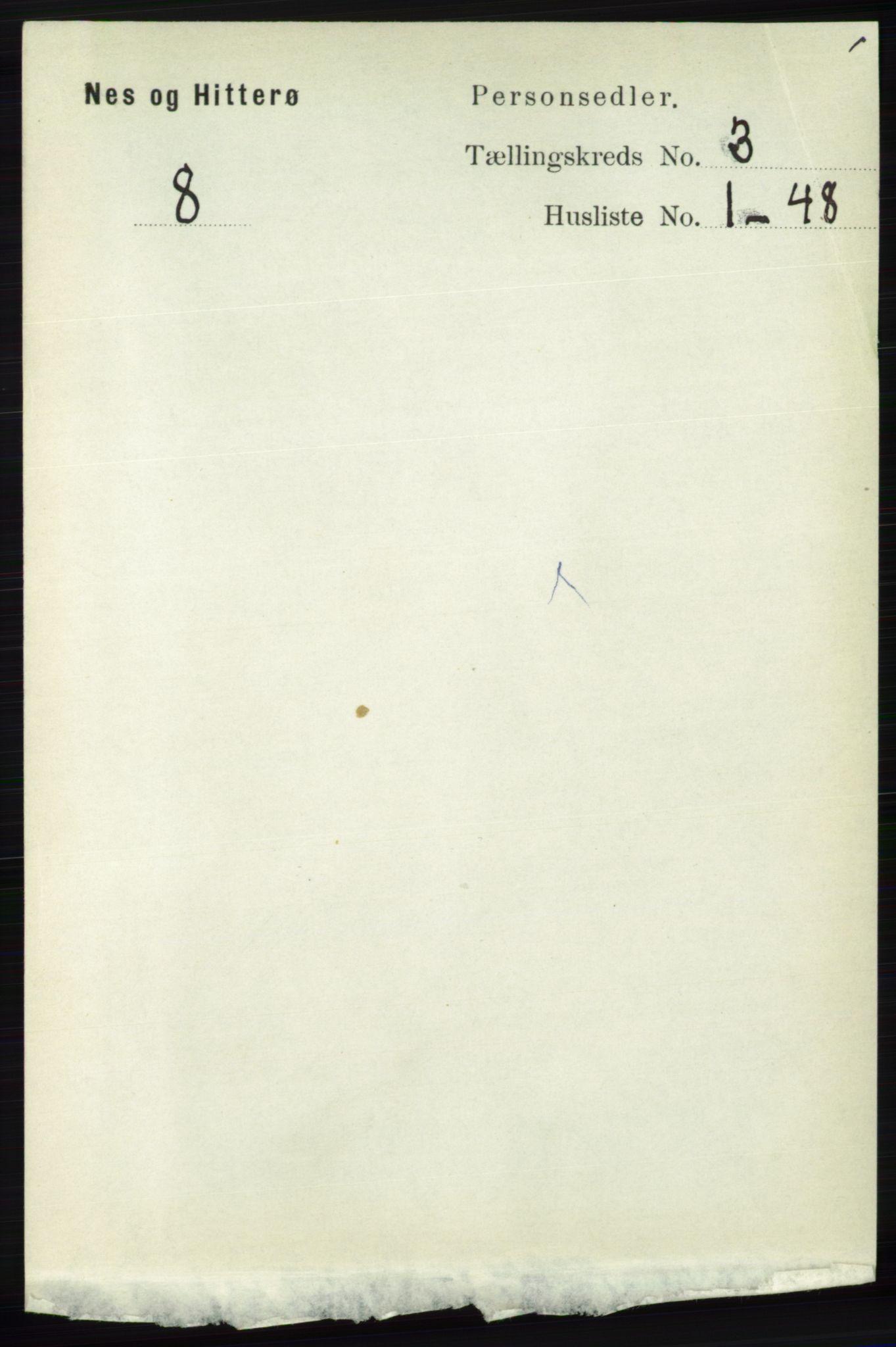 RA, Folketelling 1891 for 1043 Hidra og Nes herred, 1891, s. 924