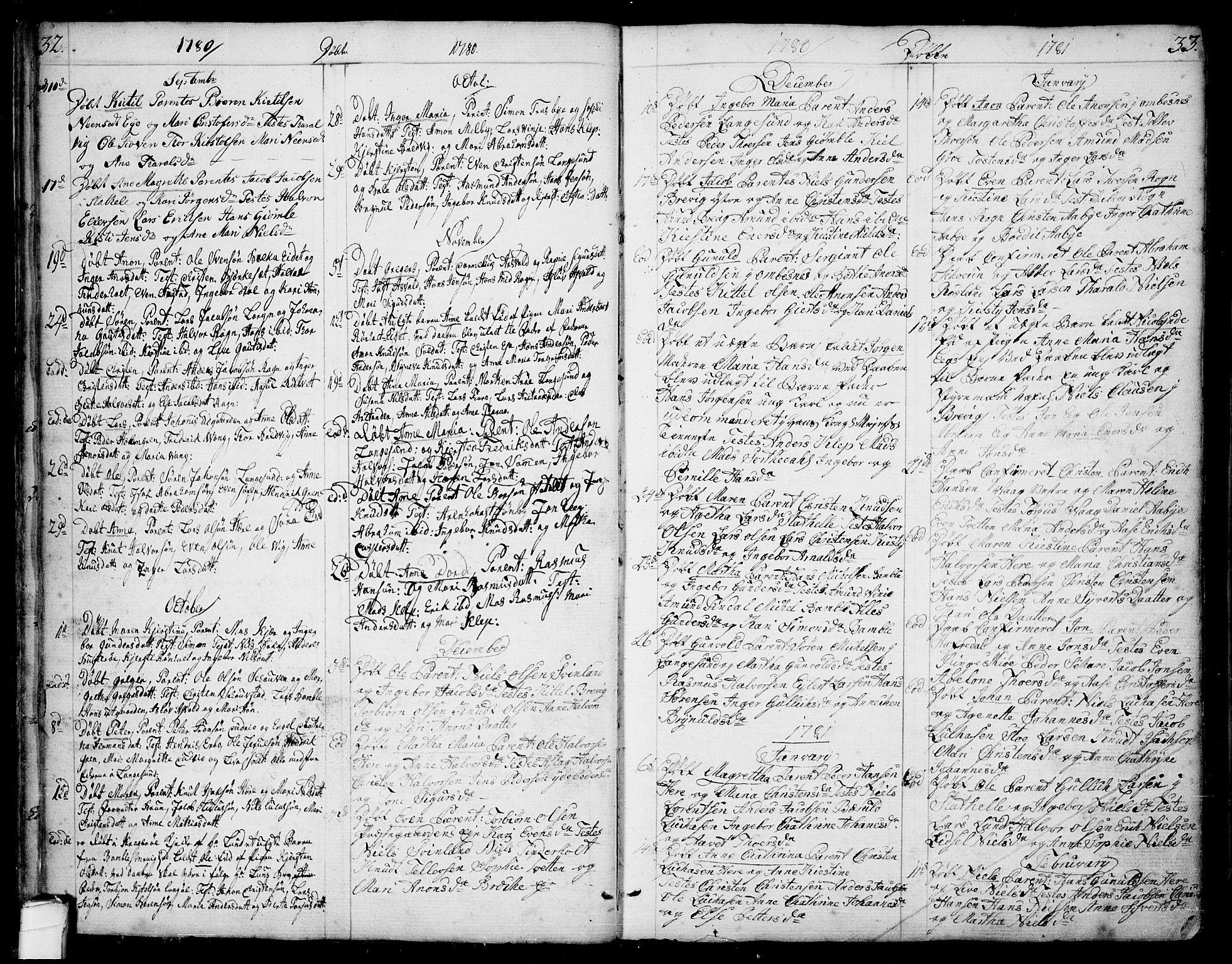 SAKO, Bamble kirkebøker, F/Fa/L0002: Ministerialbok nr. I 2, 1775-1814, s. 32-33