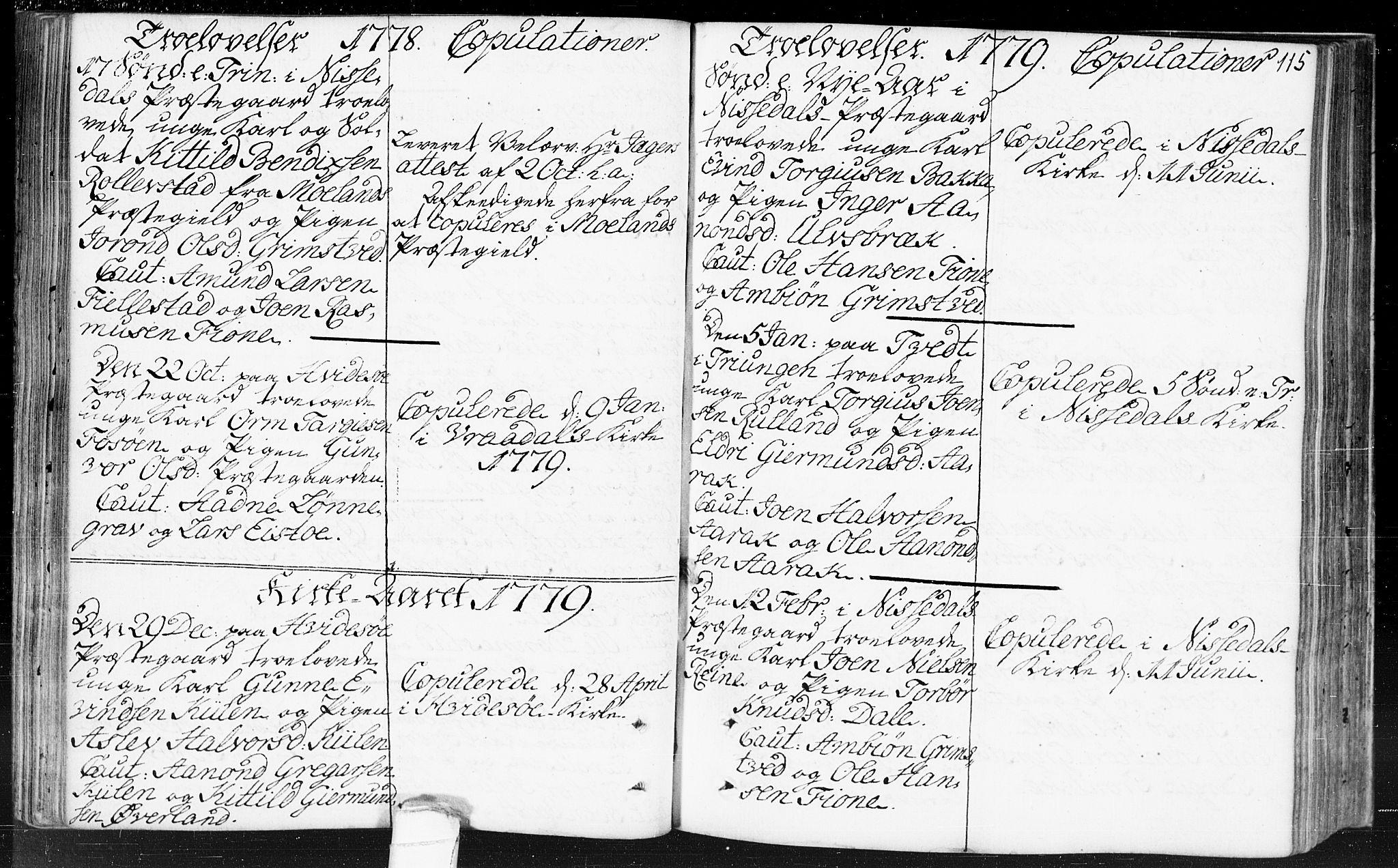 SAKO, Kviteseid kirkebøker, F/Fa/L0002: Ministerialbok nr. I 2, 1773-1786, s. 115