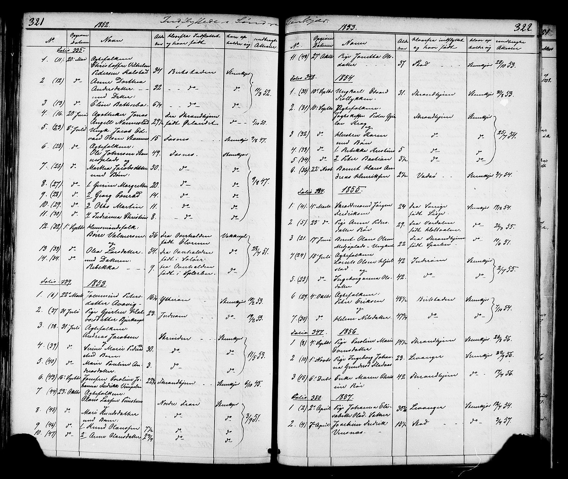 SAT, Ministerialprotokoller, klokkerbøker og fødselsregistre - Nord-Trøndelag, 739/L0367: Ministerialbok nr. 739A01 /1, 1838-1868, s. 321-322