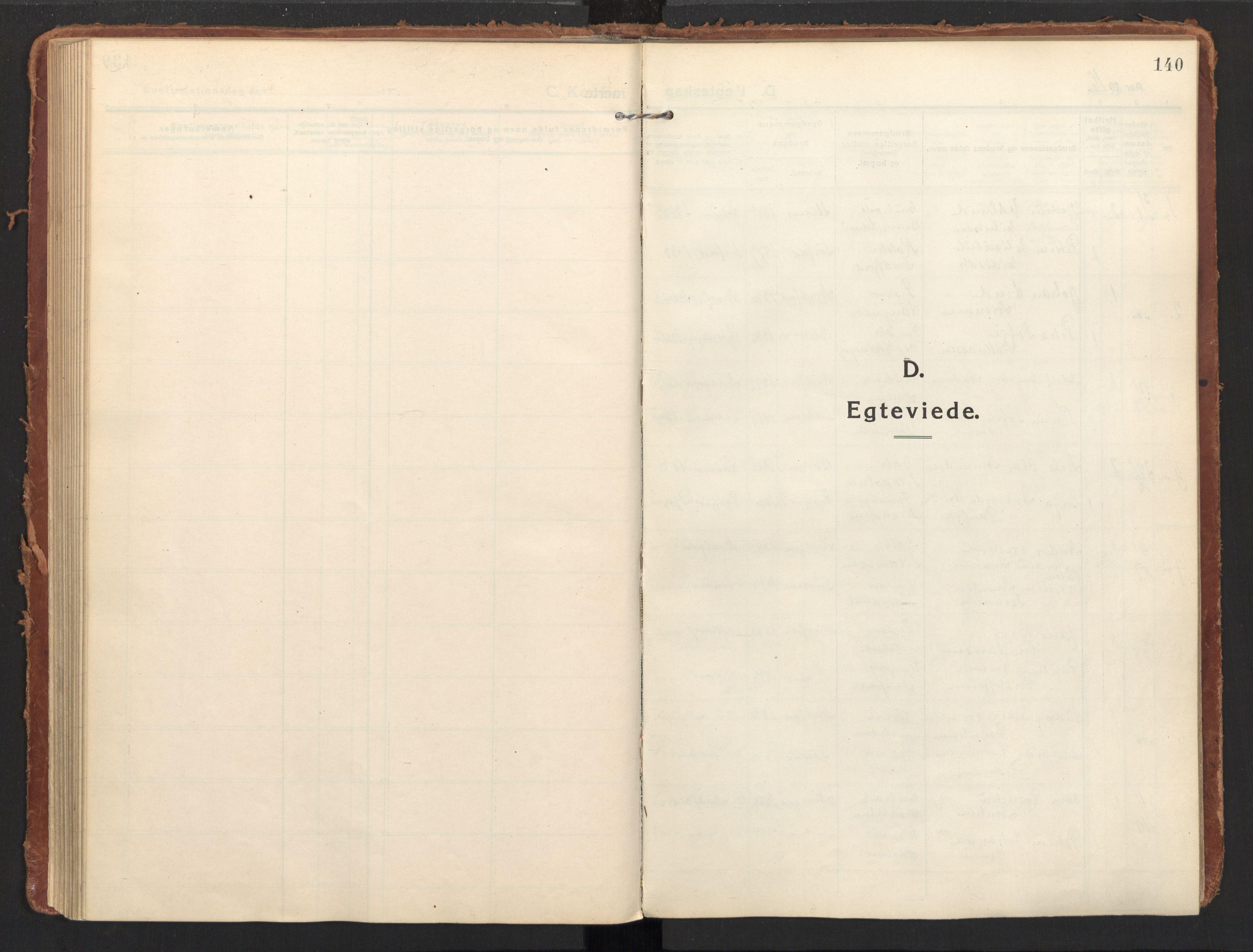 SAT, Ministerialprotokoller, klokkerbøker og fødselsregistre - Nordland, 858/L0833: Ministerialbok nr. 858A03, 1916-1934, s. 140