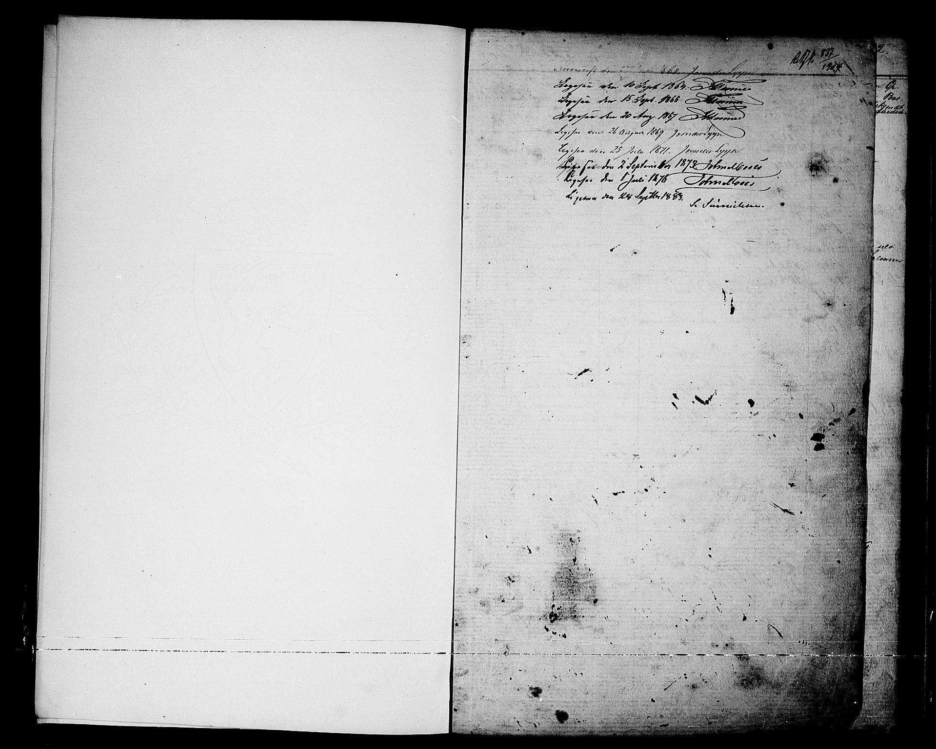 SAKO, Nissedal kirkebøker, G/Ga/L0002: Klokkerbok nr. I 2, 1861-1887