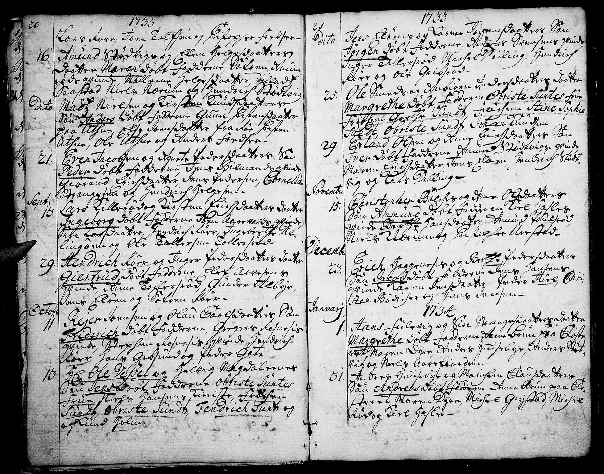 SAO, Rygge prestekontor Kirkebøker, F/Fa/L0001: Ministerialbok nr. 1, 1725-1771, s. 20-21