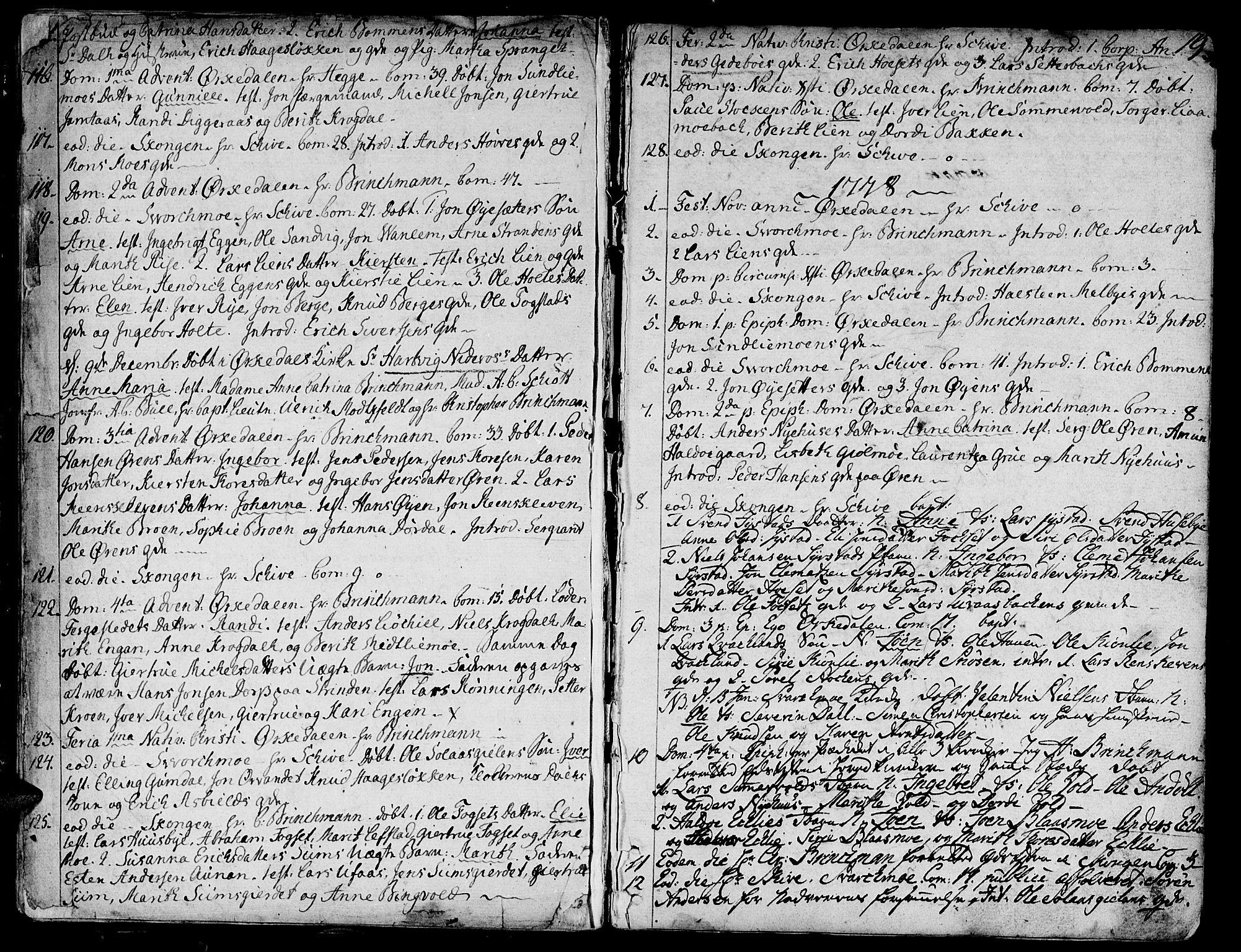 SAT, Ministerialprotokoller, klokkerbøker og fødselsregistre - Sør-Trøndelag, 668/L0802: Ministerialbok nr. 668A02, 1776-1799, s. 18-19