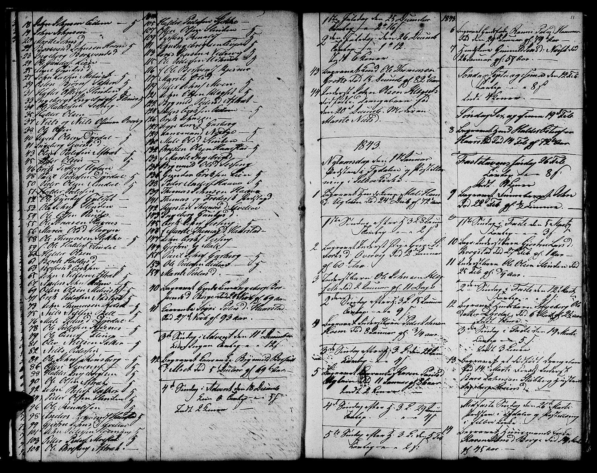 SAT, Ministerialprotokoller, klokkerbøker og fødselsregistre - Sør-Trøndelag, 695/L1154: Klokkerbok nr. 695C05, 1842-1858, s. 11
