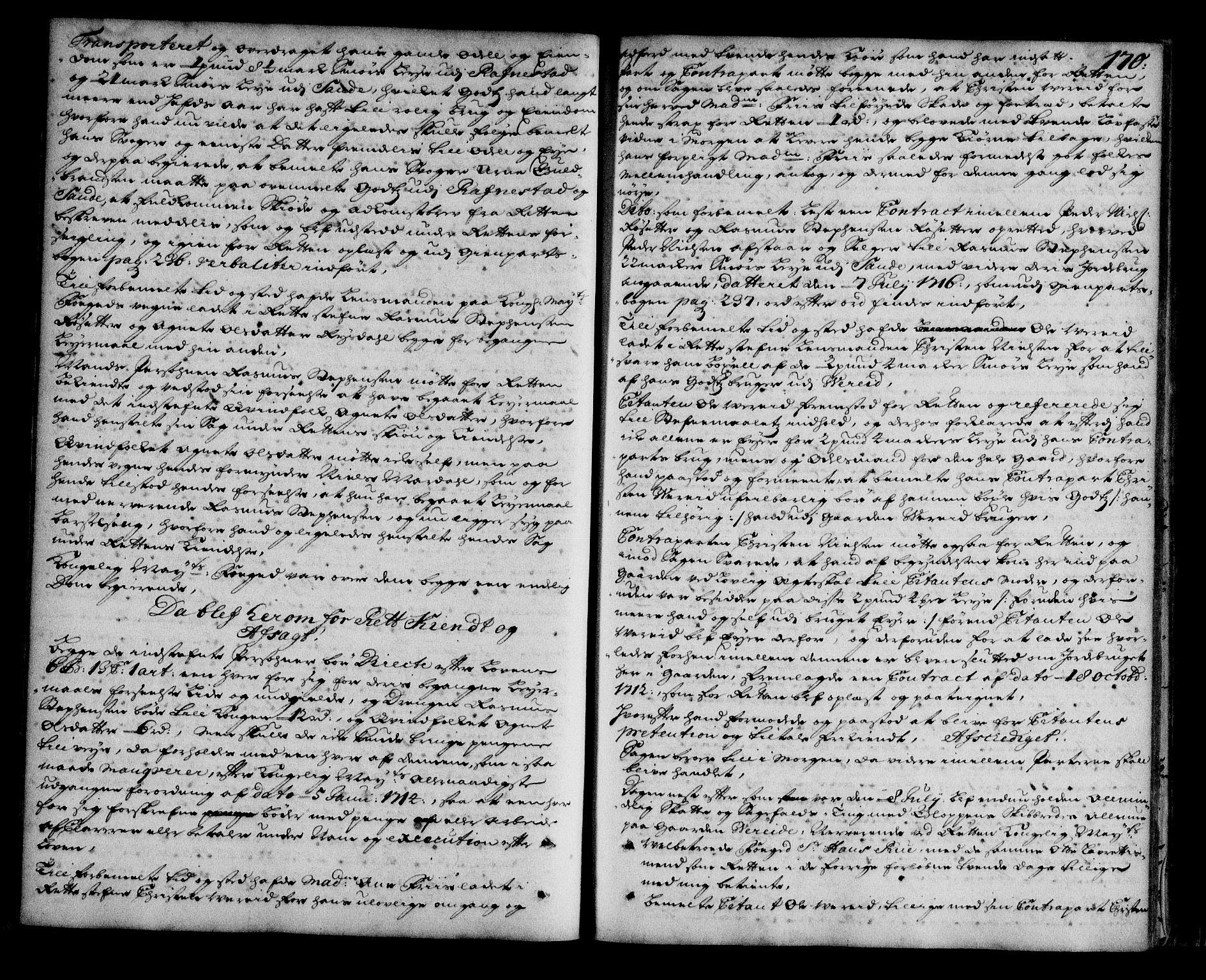 SAB, Nordfjord Sorenskriveri, 01/01a/L0019: Tingbøker (justisprotokoller), 1713-1717, s. 169b-170a