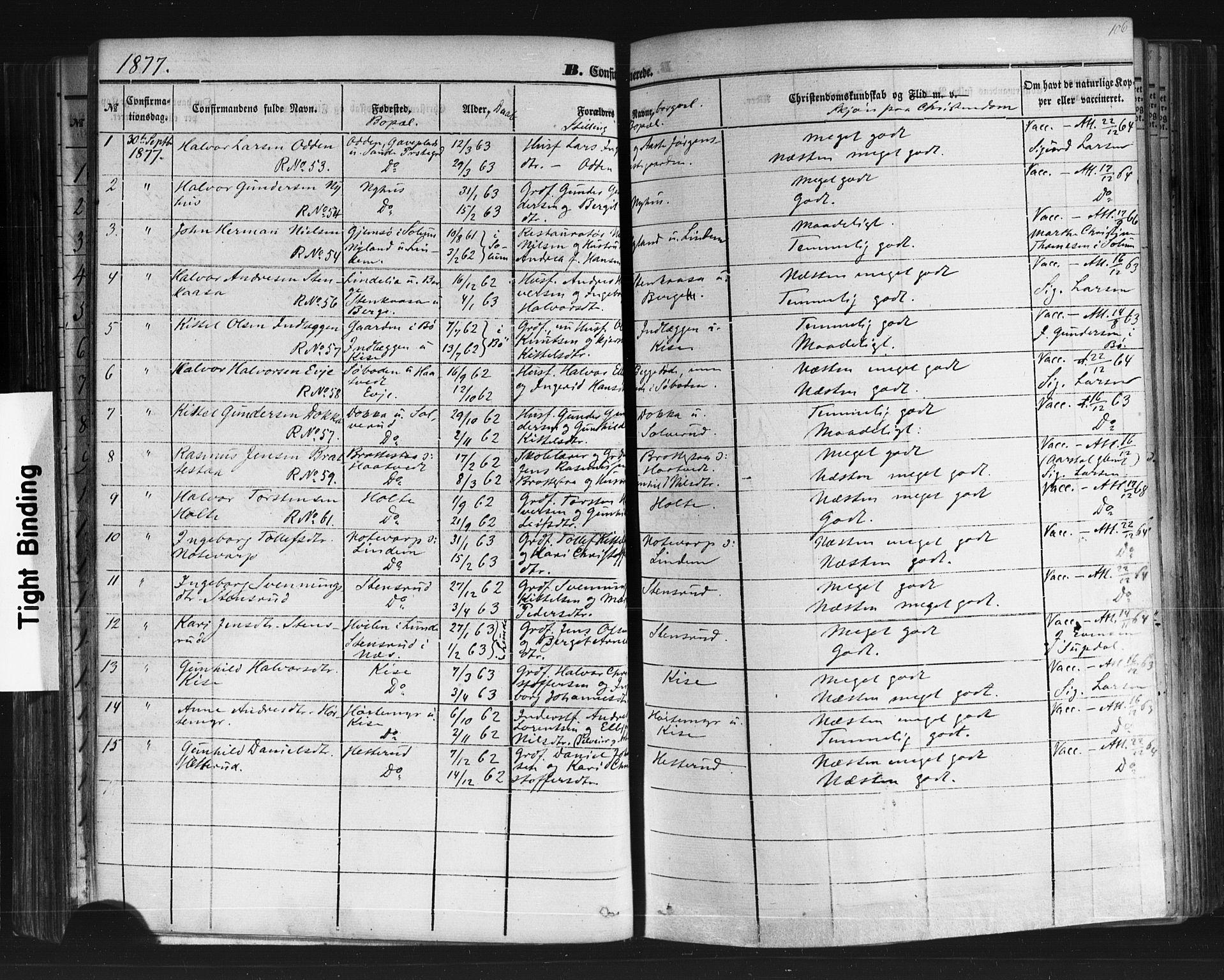 SAKO, Sauherad kirkebøker, F/Fb/L0001: Ministerialbok nr. II 1, 1851-1877, s. 106