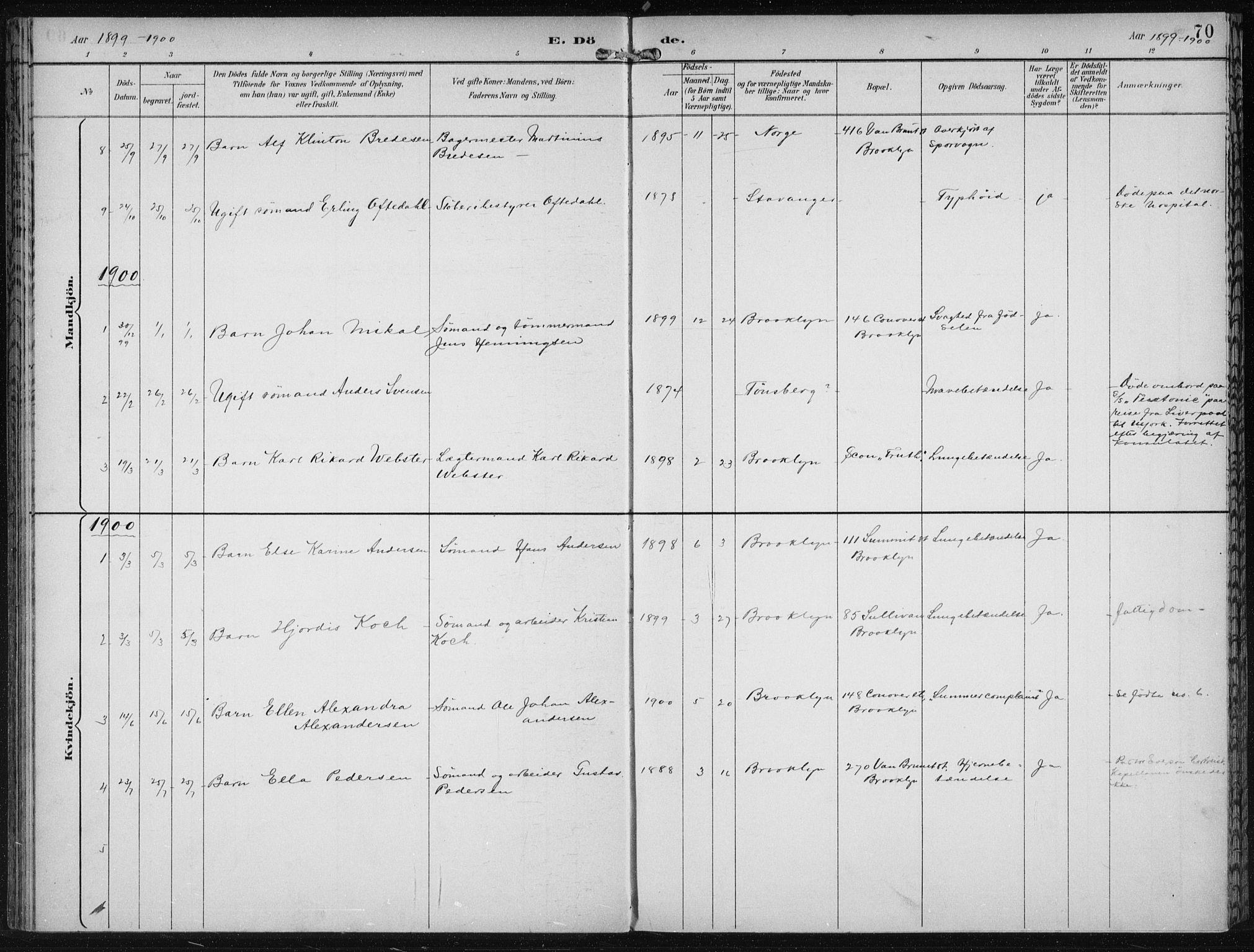 SAB, Den Norske Sjømannsmisjon i utlandet*, Ministerialbok nr. A 4, 1893-1901, s. 70
