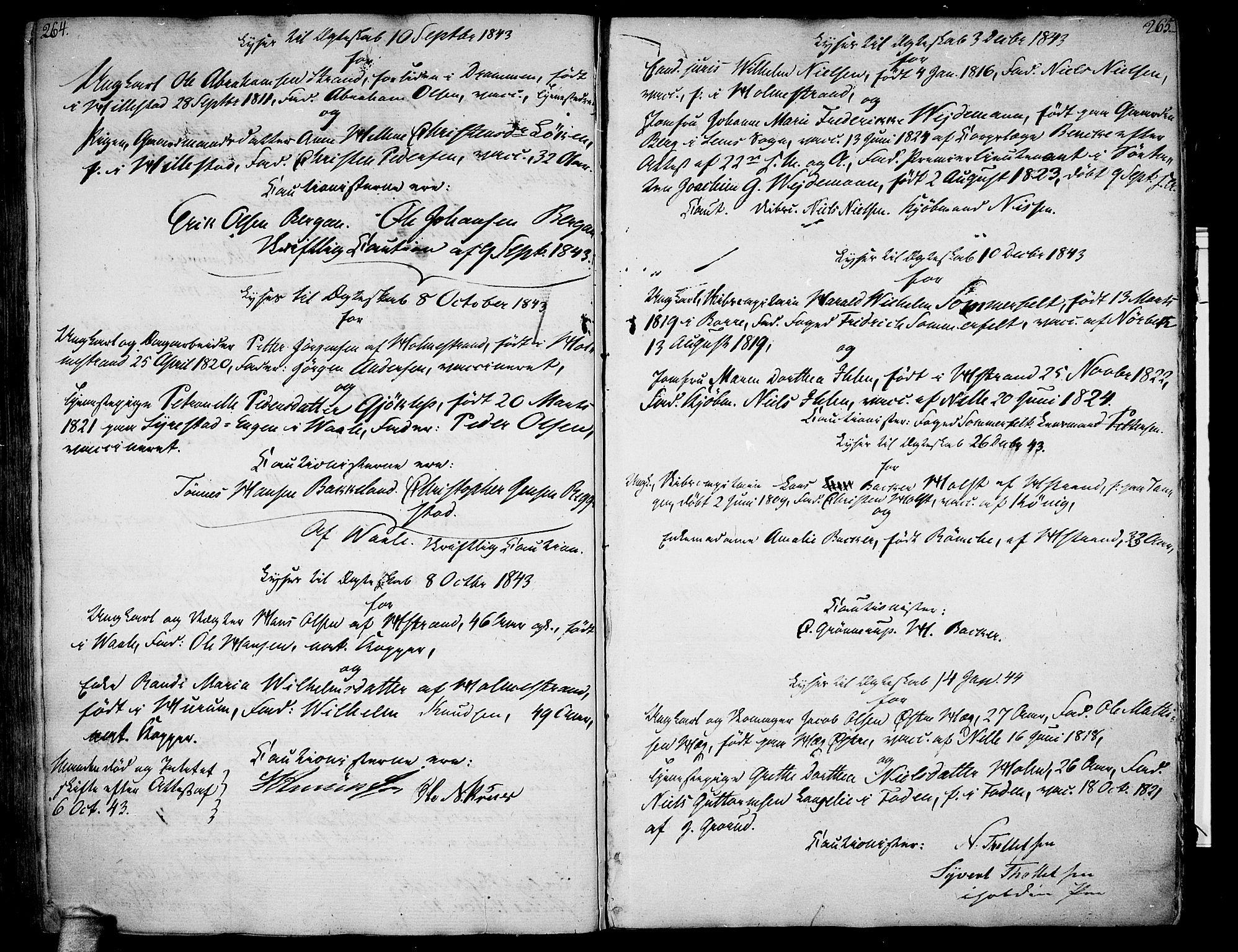 SAKO, Botne kirkebøker, F/Fa/L0003: Ministerialbok nr. I 3 /1, 1792-1844, s. 264-265