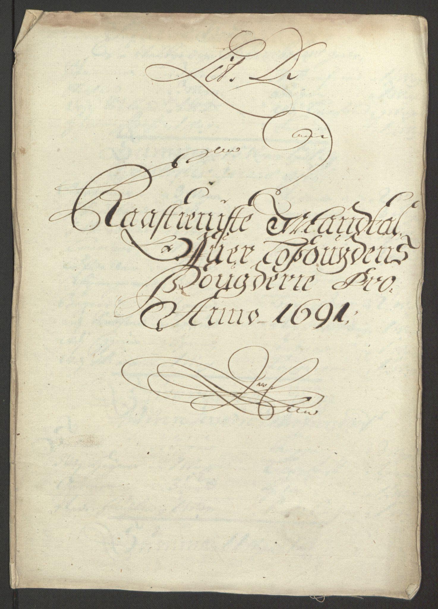 RA, Rentekammeret inntil 1814, Reviderte regnskaper, Fogderegnskap, R67/L4675: Fogderegnskap Vesterålen, Andenes og Lofoten, 1691-1693, s. 38