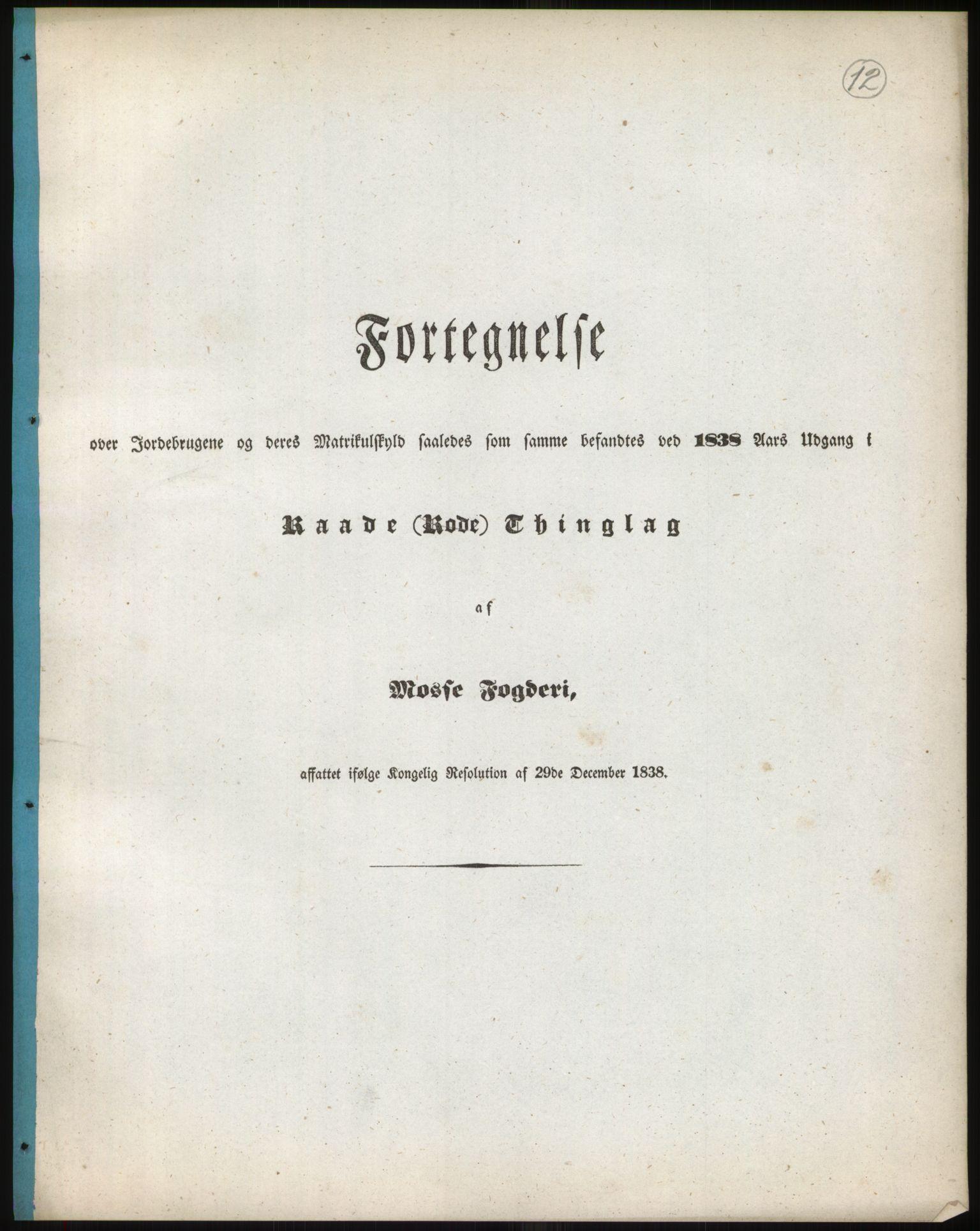 RA, 1838-matrikkelen (publikasjon)*, 1838, s. 12
