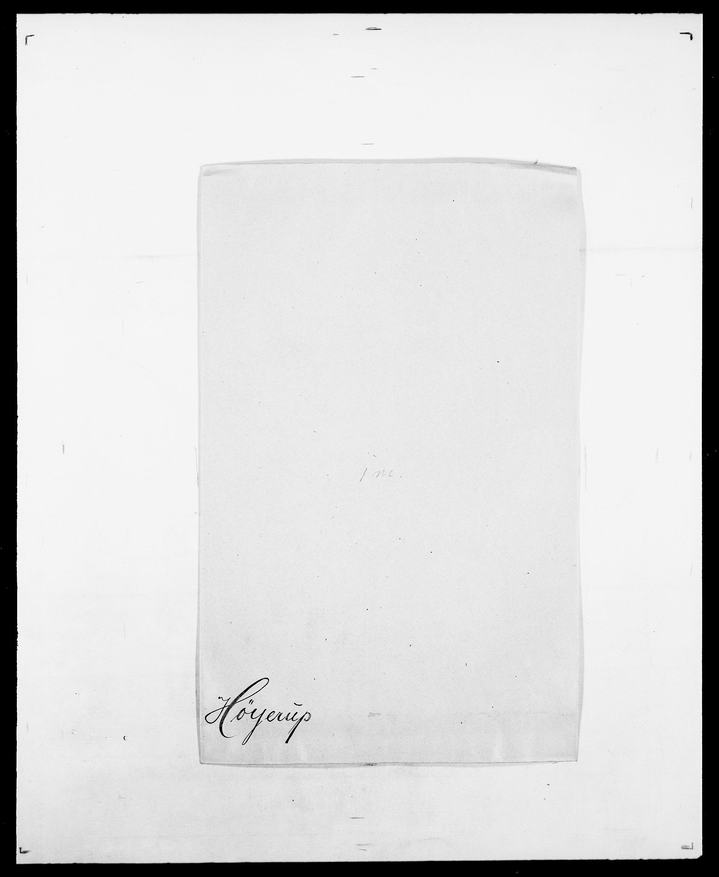 SAO, Delgobe, Charles Antoine - samling, D/Da/L0019: van der Hude - Joys, s. 462
