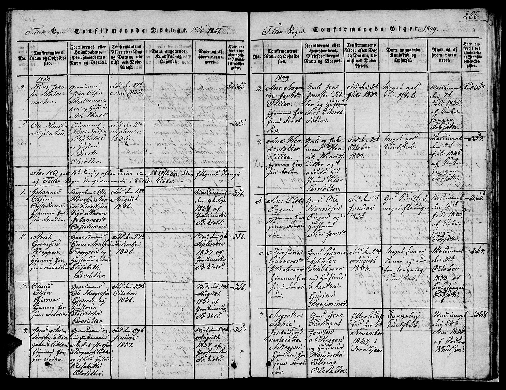 SAT, Ministerialprotokoller, klokkerbøker og fødselsregistre - Sør-Trøndelag, 621/L0458: Klokkerbok nr. 621C01, 1816-1865, s. 266