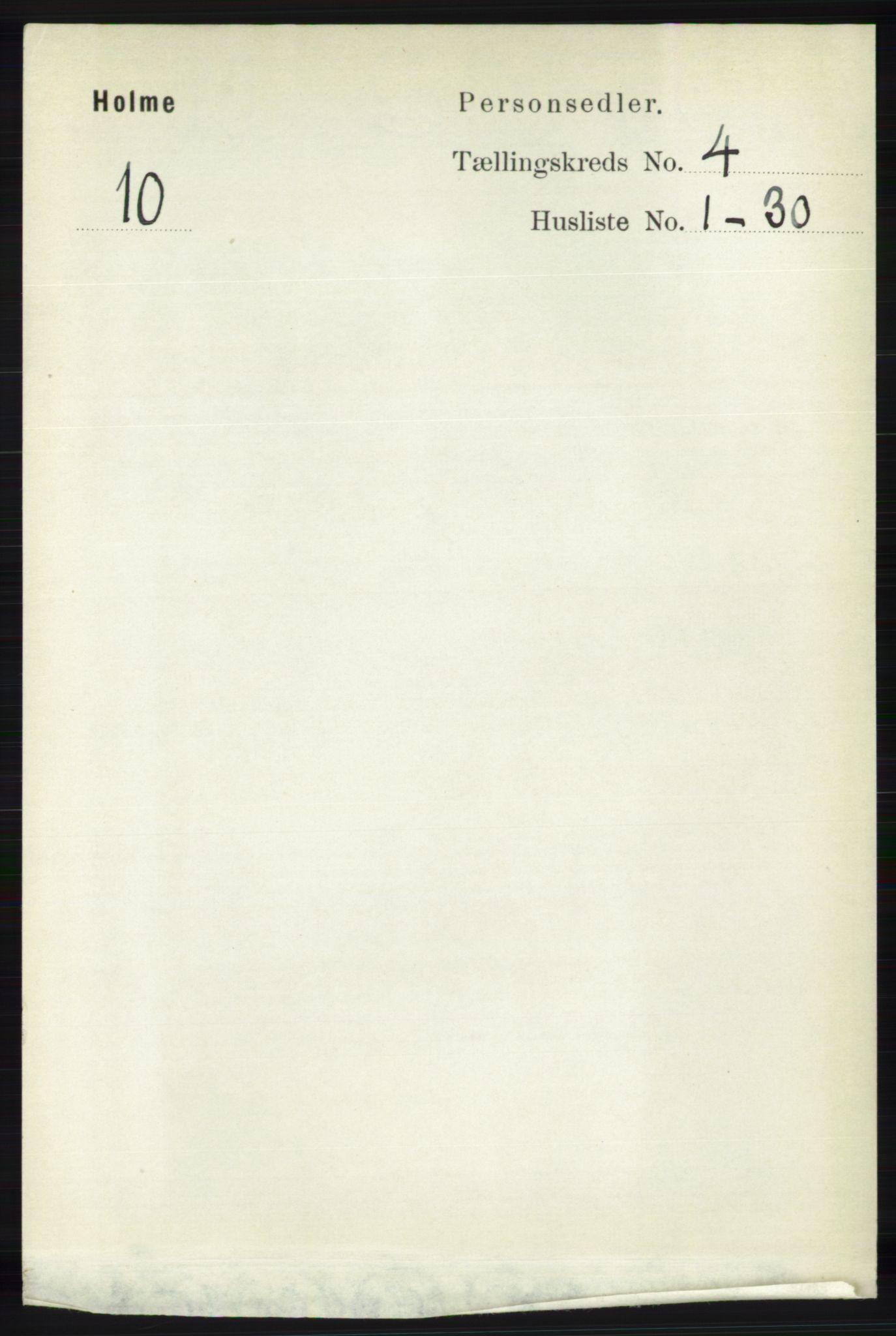 RA, Folketelling 1891 for 1020 Holum herred, 1891, s. 1033