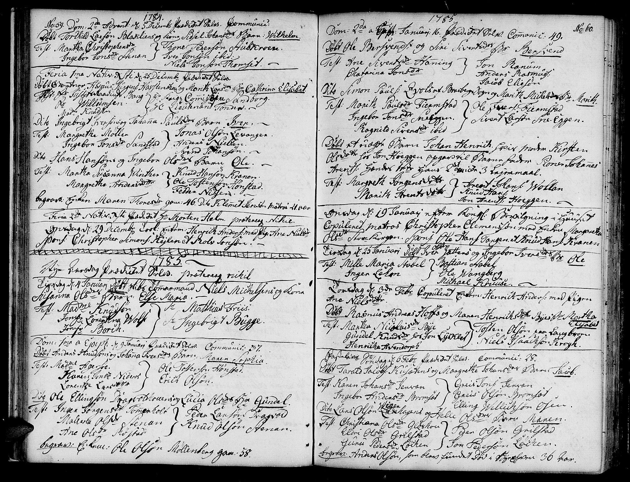 SAT, Ministerialprotokoller, klokkerbøker og fødselsregistre - Sør-Trøndelag, 604/L0180: Ministerialbok nr. 604A01, 1780-1797, s. 59-60