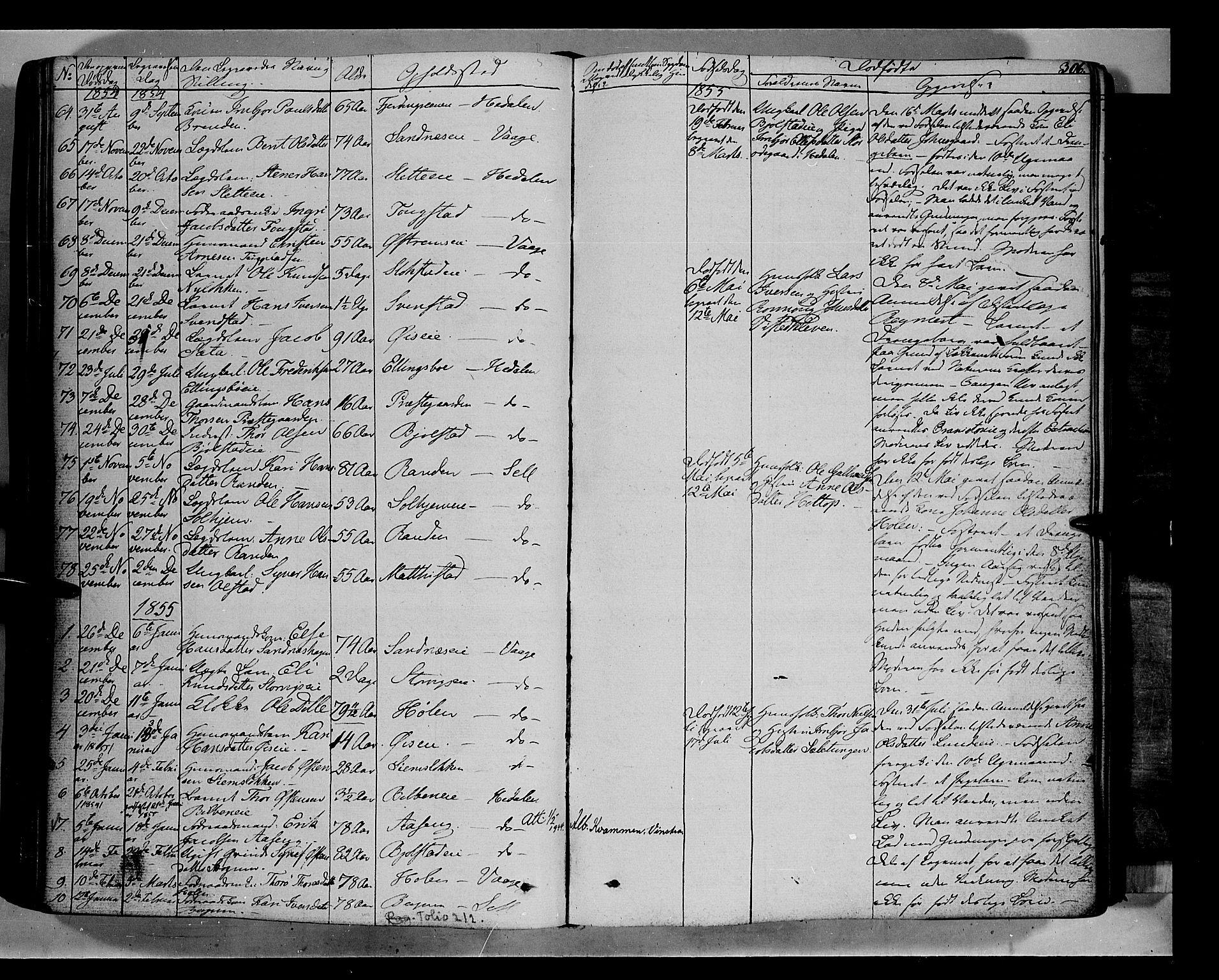 SAH, Vågå prestekontor, Ministerialbok nr. 5 /1, 1842-1856, s. 306