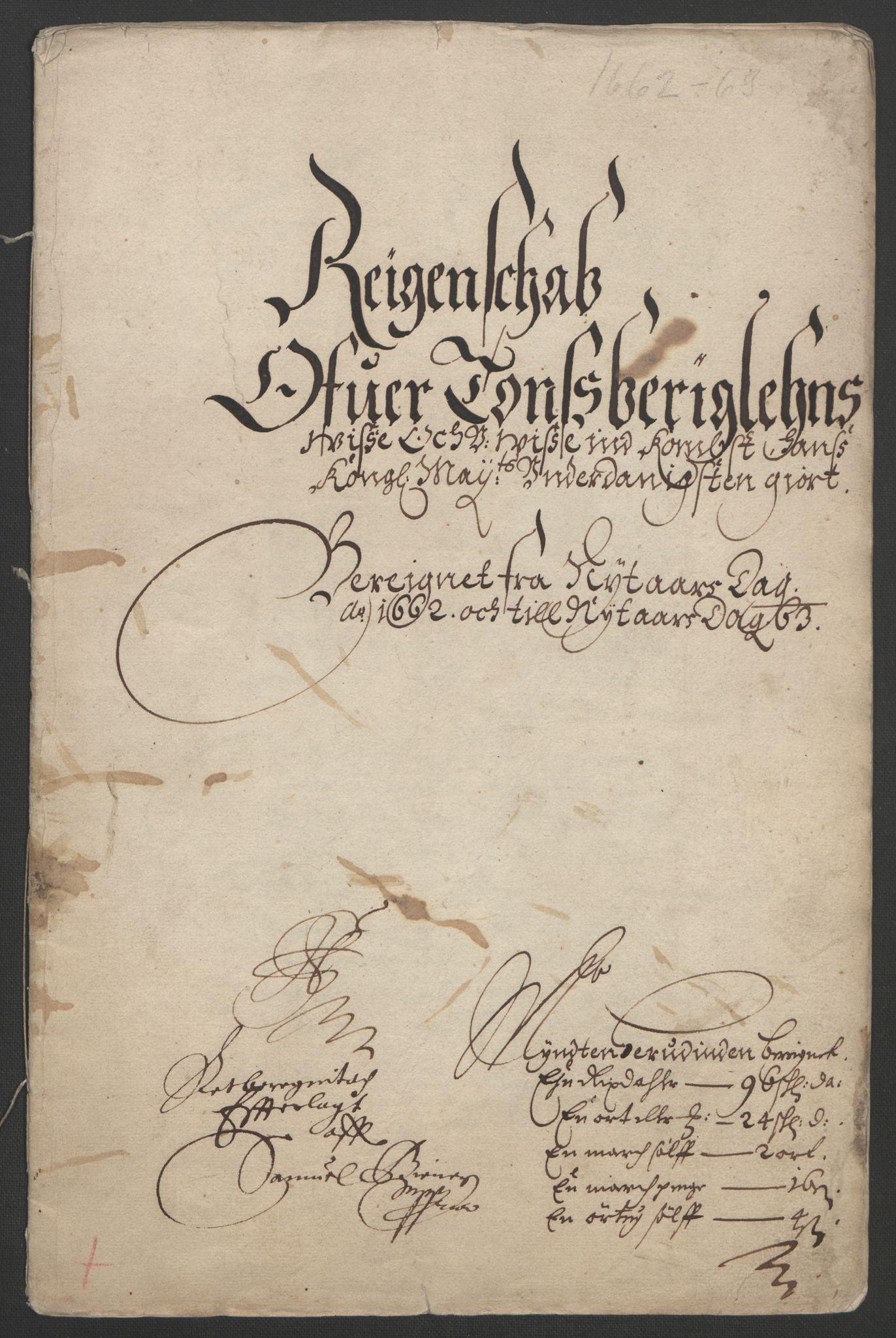 RA, Rentekammeret inntil 1814, Reviderte regnskaper, Fogderegnskap, R32/L1838: Fogderegnskap Jarlsberg grevskap, 1661-1663, s. 143
