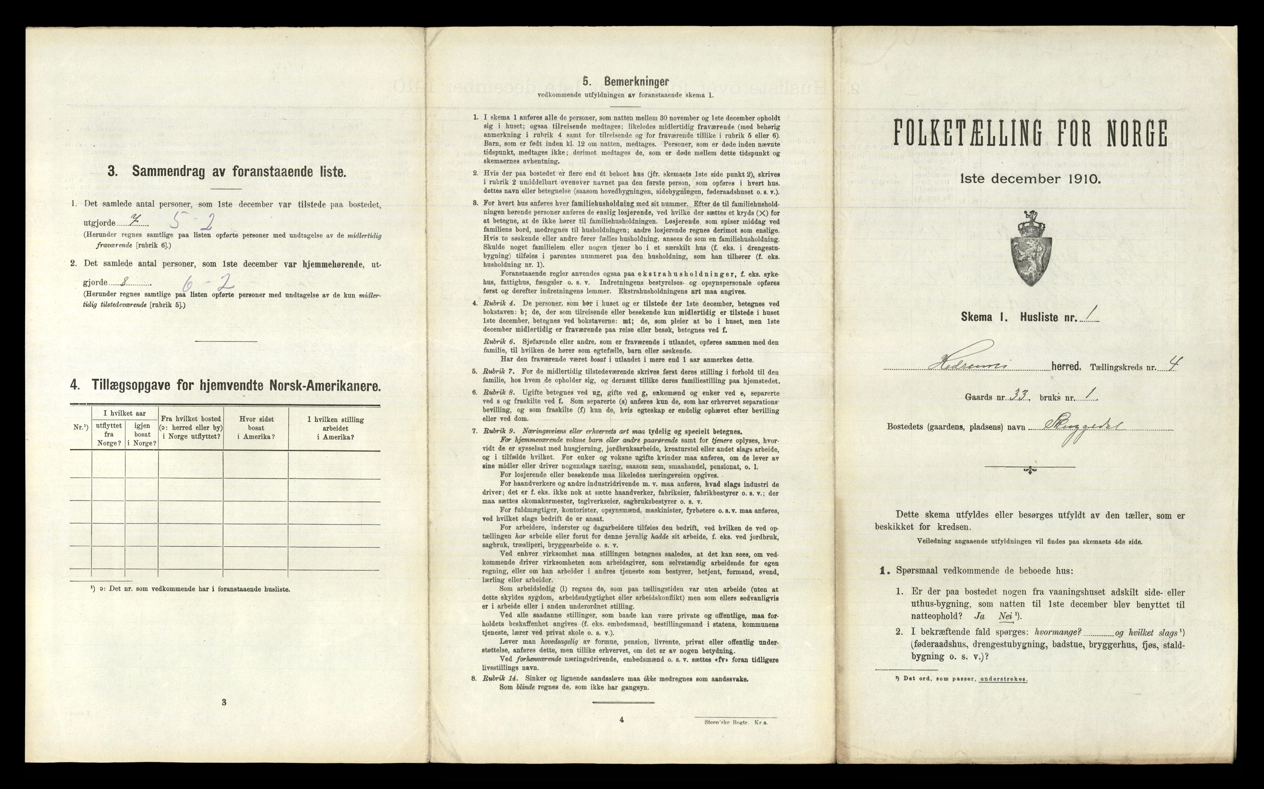 RA, Folketelling 1910 for 0727 Hedrum herred, 1910, s. 522