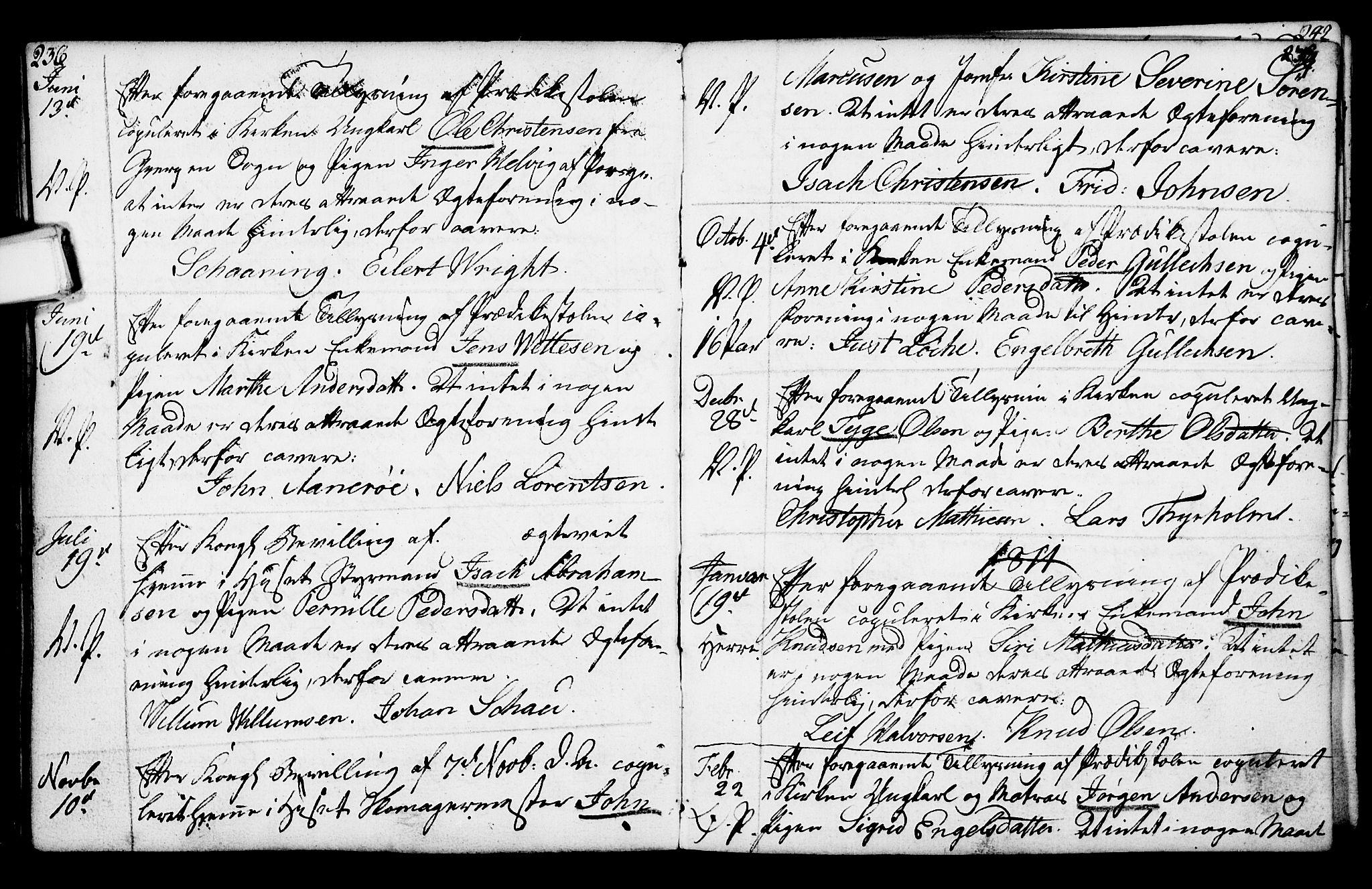 SAKO, Porsgrunn kirkebøker , F/Fa/L0003: Ministerialbok nr. 3, 1764-1814, s. 236-237