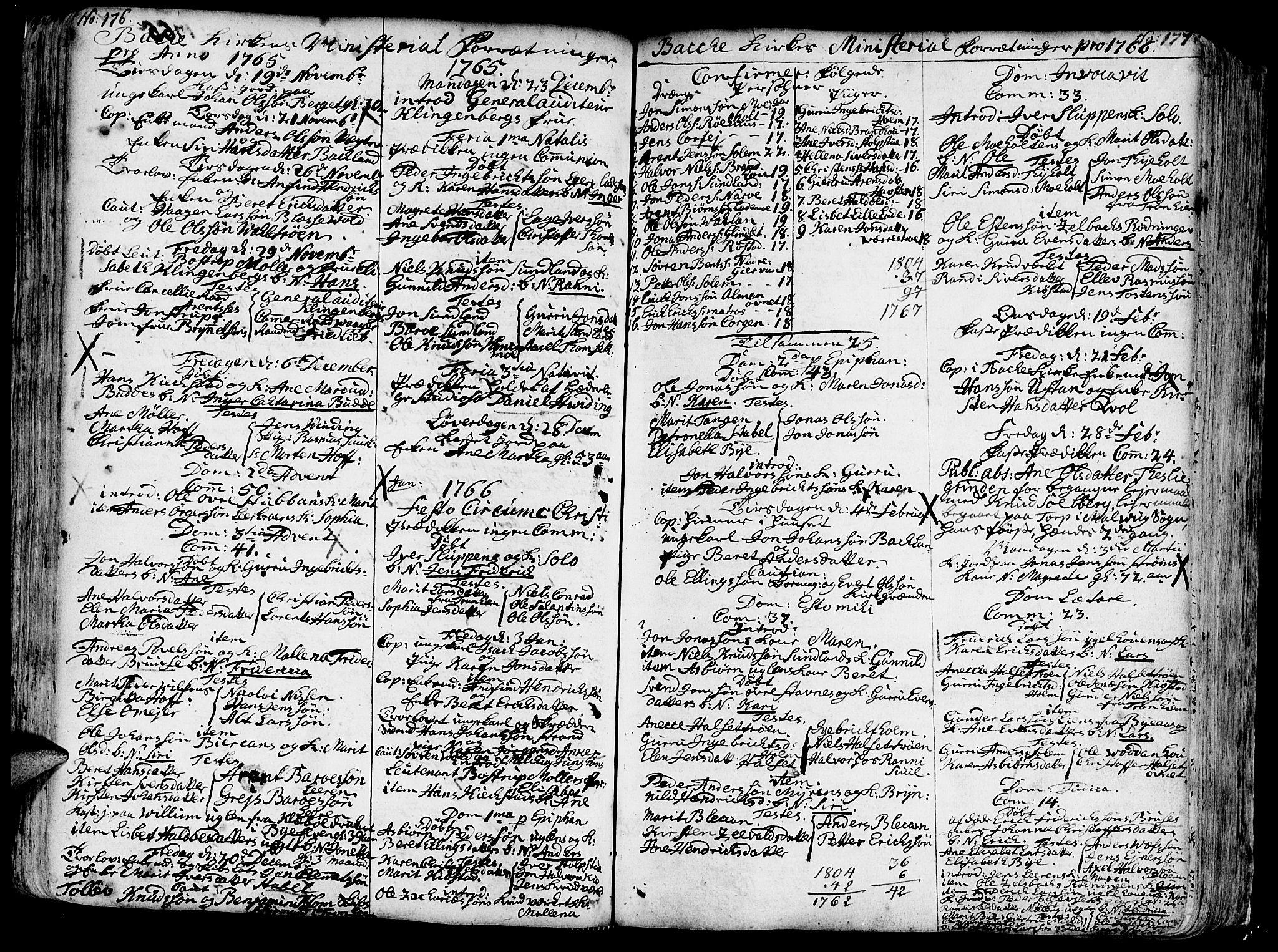 SAT, Ministerialprotokoller, klokkerbøker og fødselsregistre - Sør-Trøndelag, 606/L0276: Ministerialbok nr. 606A01 /2, 1727-1779, s. 176-177