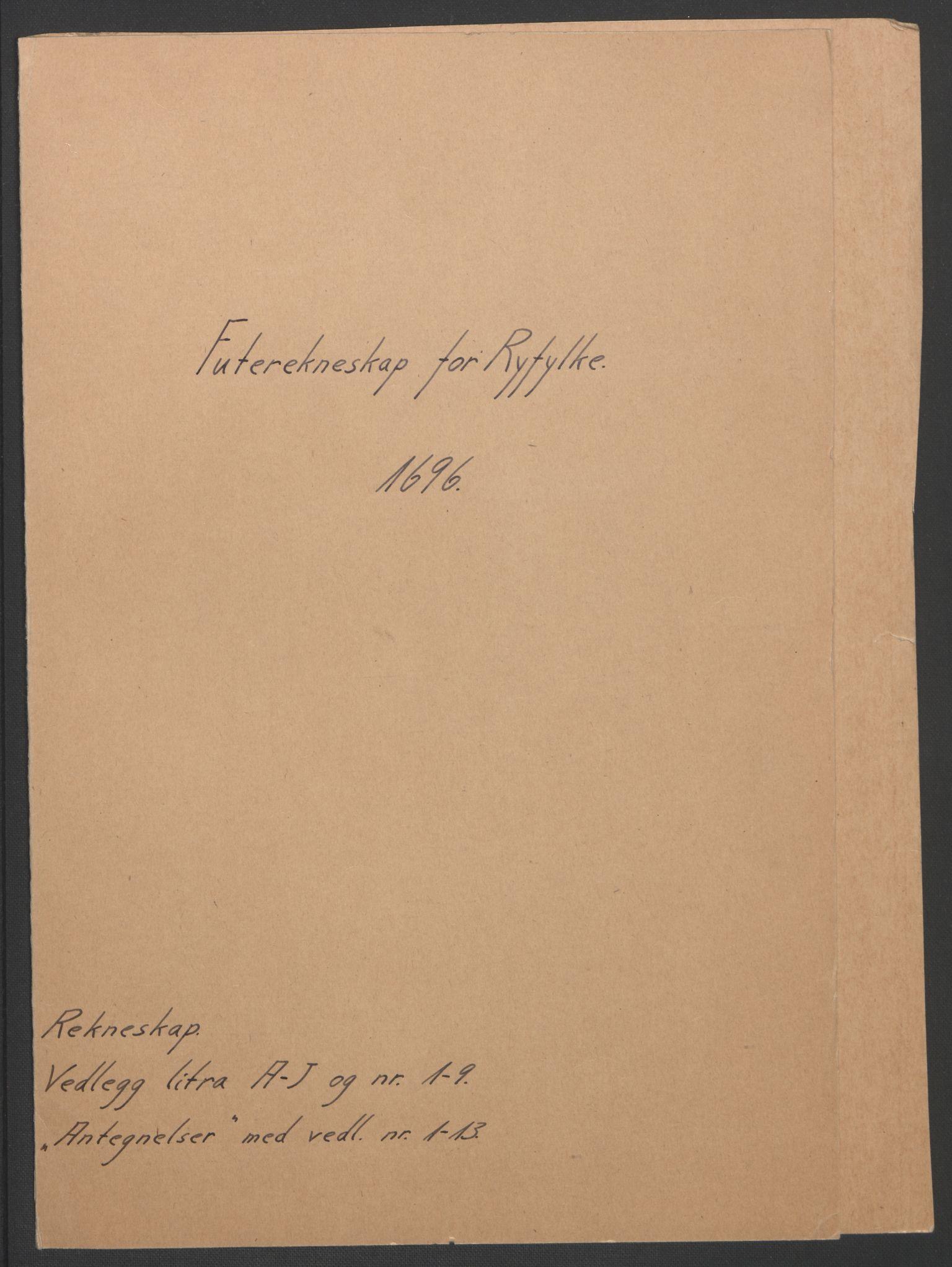 RA, Rentekammeret inntil 1814, Reviderte regnskaper, Fogderegnskap, R47/L2857: Fogderegnskap Ryfylke, 1694-1696, s. 235