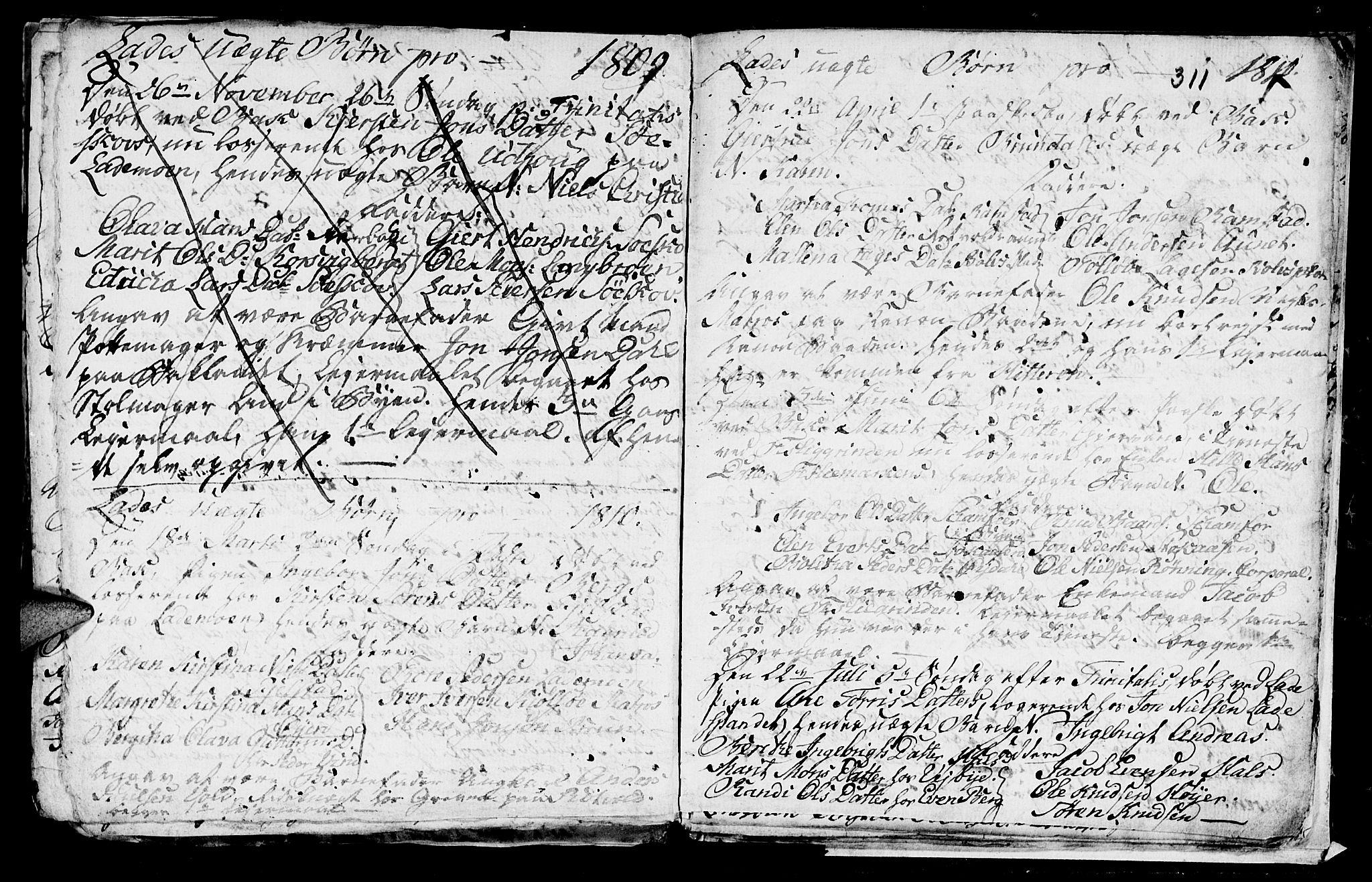 SAT, Ministerialprotokoller, klokkerbøker og fødselsregistre - Sør-Trøndelag, 606/L0305: Klokkerbok nr. 606C01, 1757-1819, s. 311