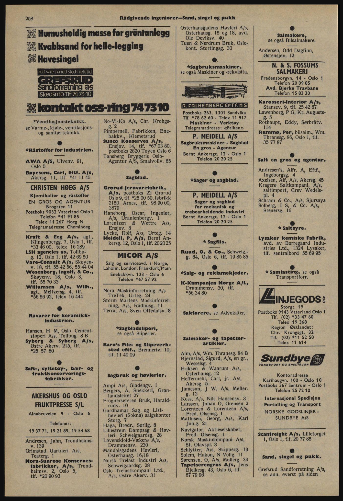 PUBL, Kristiania/Oslo adressebok, 1978-1979, s. 258