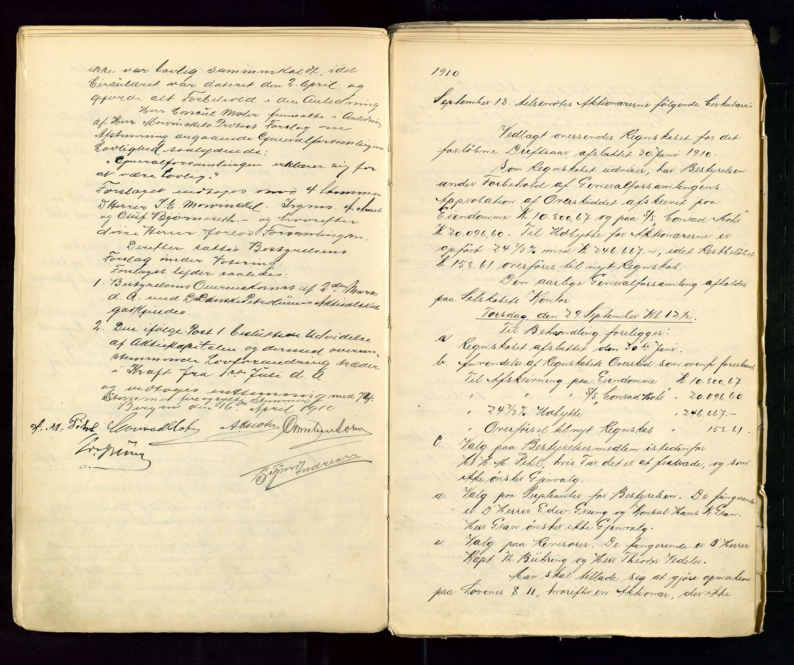 SAST, PA 1533 - A/S Vestlandske Petroleumscompani, A/Aa/L0001: Generalforsamlinger og styreprotokoller, 1890-1953, s. 42