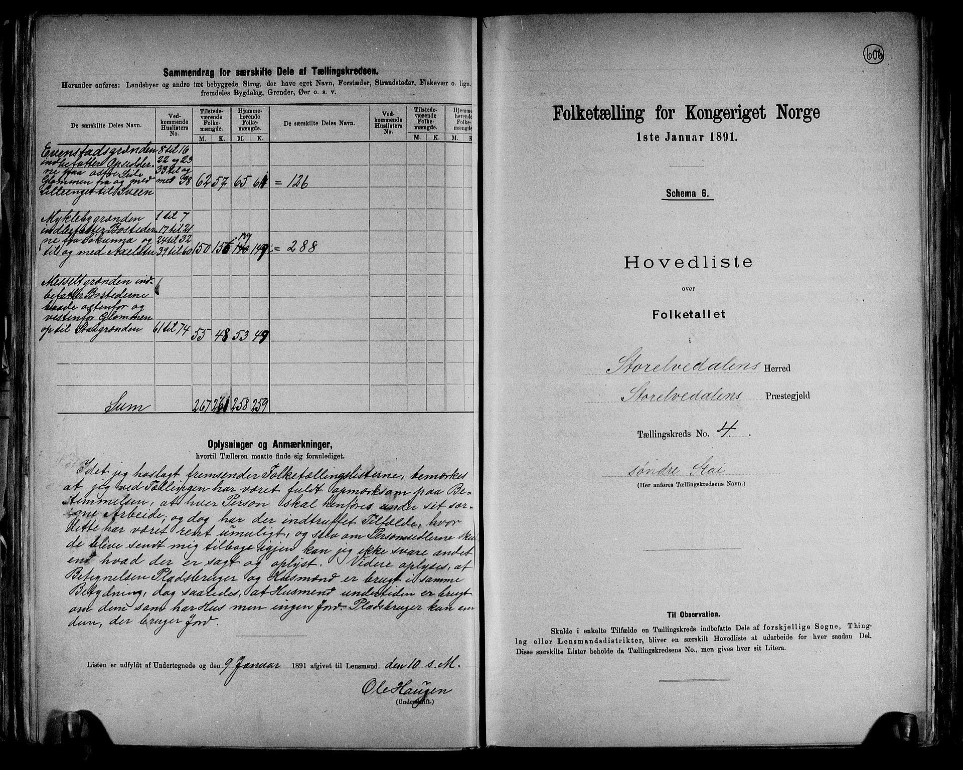 RA, Folketelling 1891 for 0430 Stor-Elvdal herred, 1891, s. 11