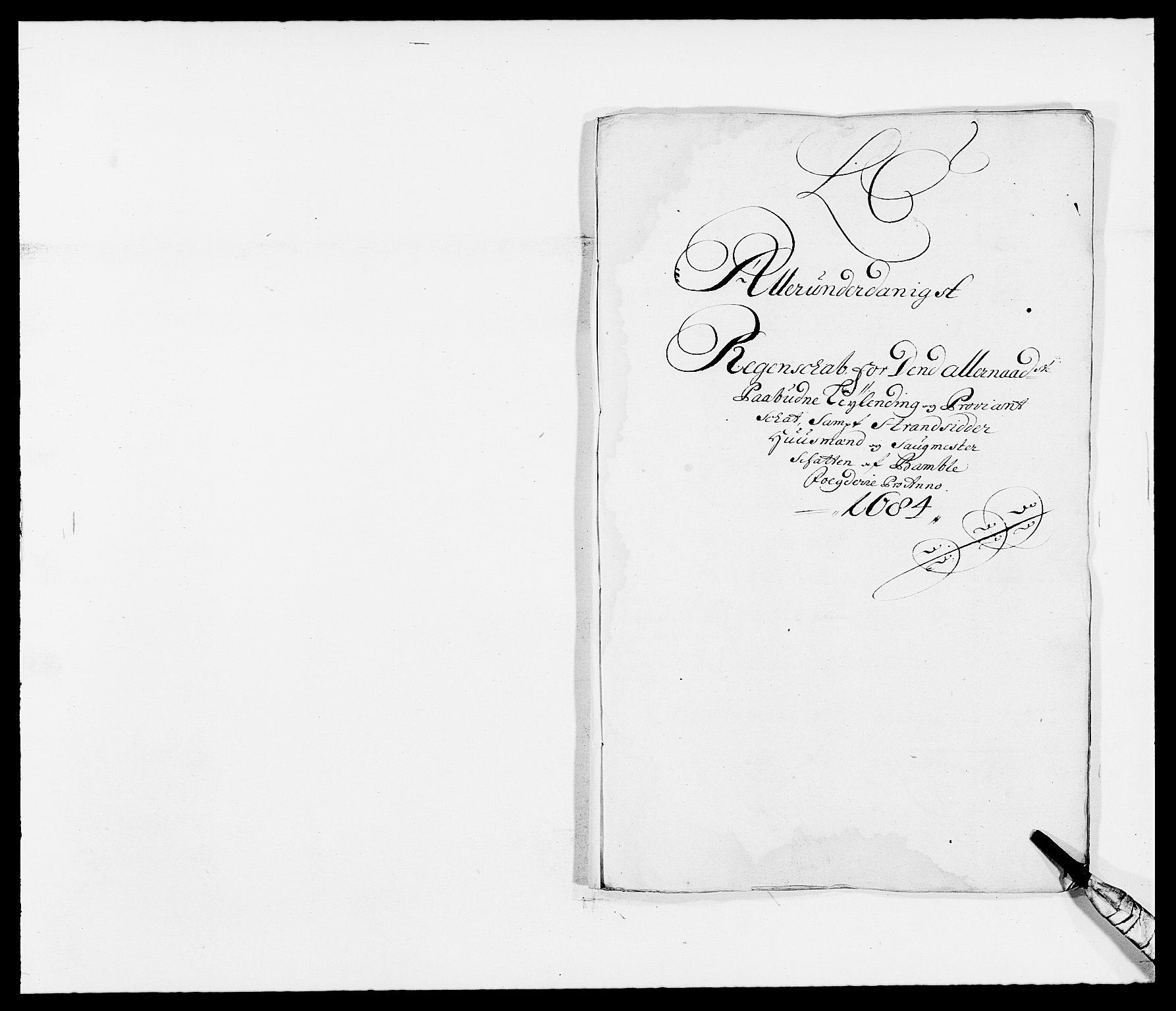 RA, Rentekammeret inntil 1814, Reviderte regnskaper, Fogderegnskap, R34/L2047: Fogderegnskap Bamble, 1684, s. 18