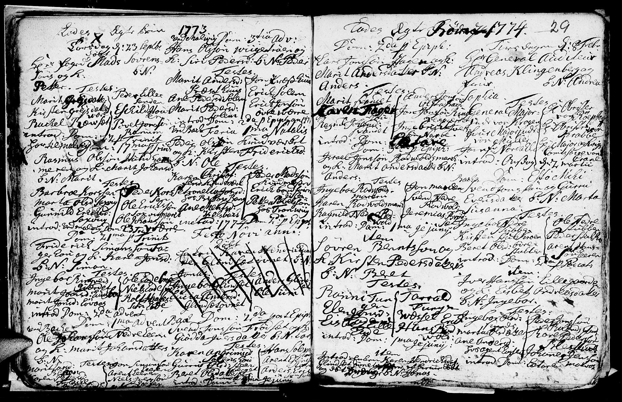 SAT, Ministerialprotokoller, klokkerbøker og fødselsregistre - Sør-Trøndelag, 606/L0305: Klokkerbok nr. 606C01, 1757-1819, s. 29