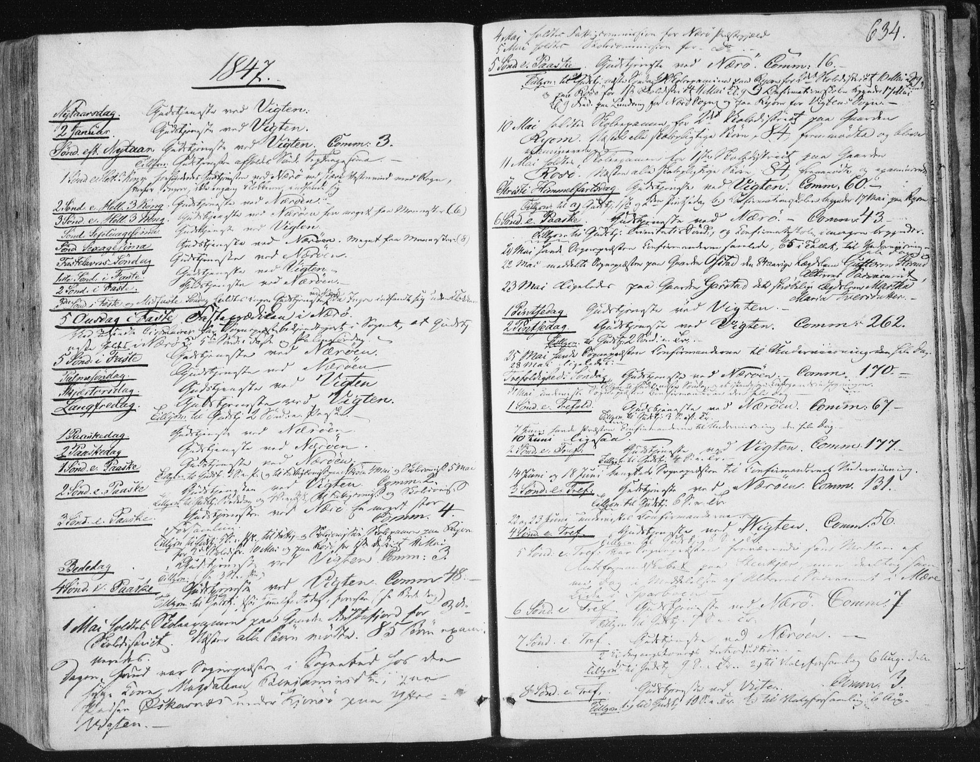 SAT, Ministerialprotokoller, klokkerbøker og fødselsregistre - Nord-Trøndelag, 784/L0669: Ministerialbok nr. 784A04, 1829-1859, s. 634