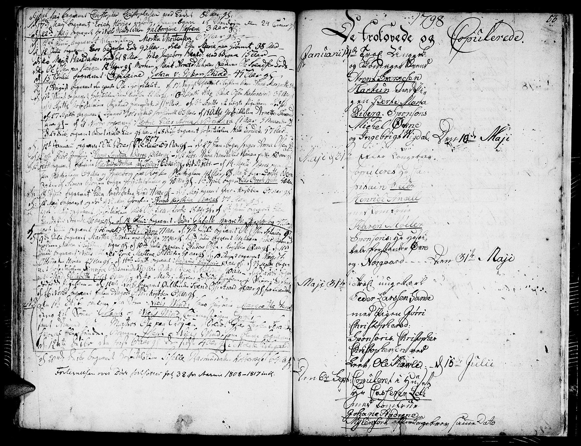 SAT, Ministerialprotokoller, klokkerbøker og fødselsregistre - Møre og Romsdal, 558/L0687: Ministerialbok nr. 558A01, 1798-1818, s. 53