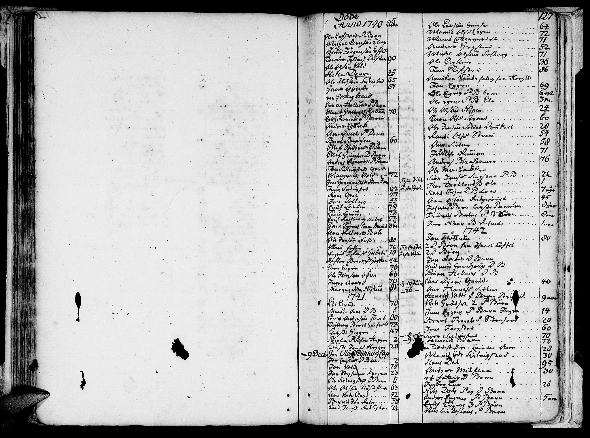 SAT, Ministerialprotokoller, klokkerbøker og fødselsregistre - Sør-Trøndelag, 691/L1057: Ministerialbok nr. 691A01 /1, 1740-1767, s. 127