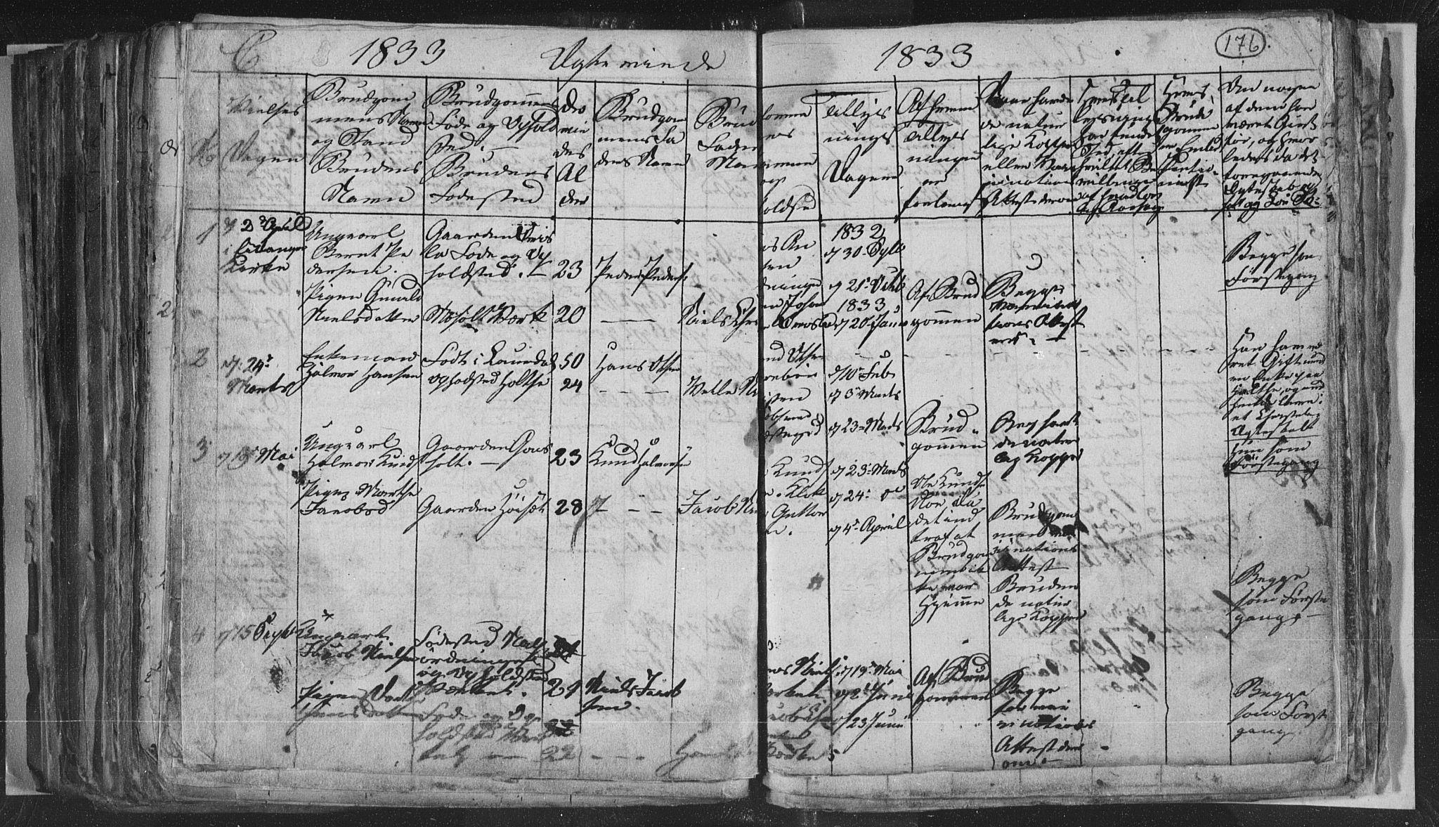 SAKO, Siljan kirkebøker, G/Ga/L0001: Klokkerbok nr. 1, 1827-1847, s. 176