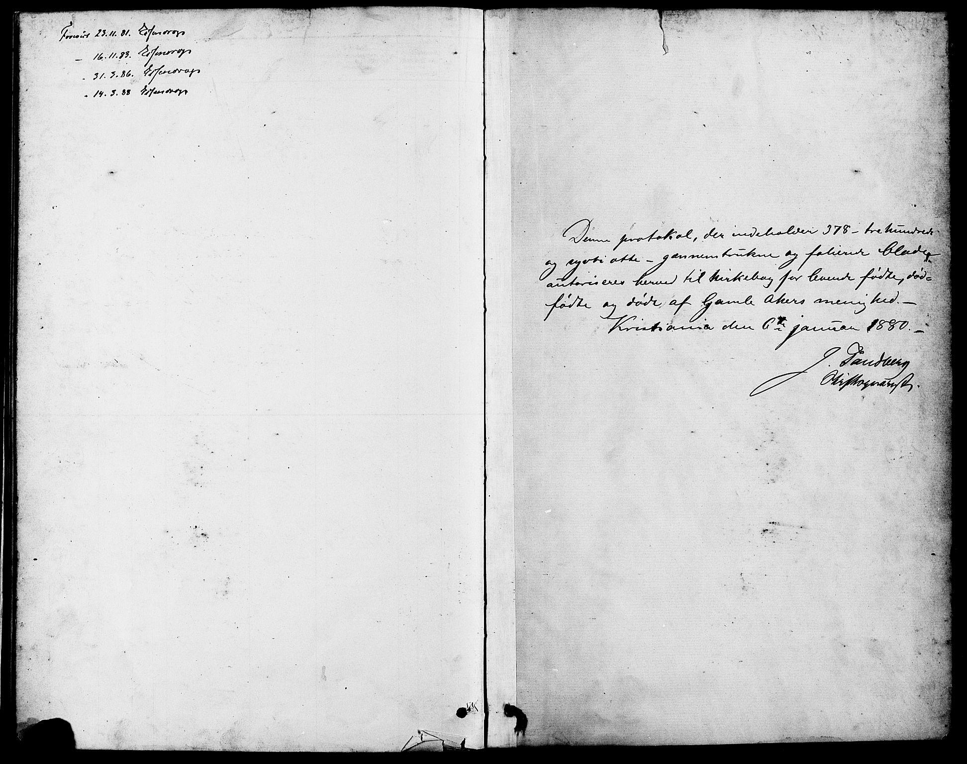 SAO, Gamle Aker prestekontor Kirkebøker, F/L0006: Ministerialbok nr. 6, 1880-1887