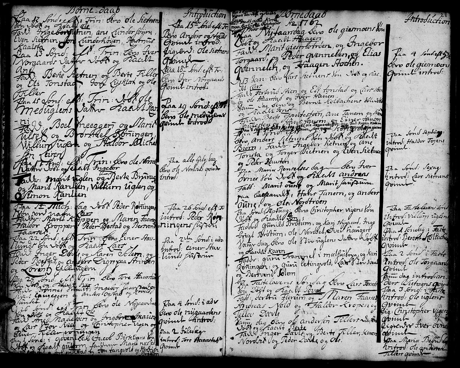 SAT, Ministerialprotokoller, klokkerbøker og fødselsregistre - Sør-Trøndelag, 618/L0437: Ministerialbok nr. 618A02, 1749-1782, s. 28
