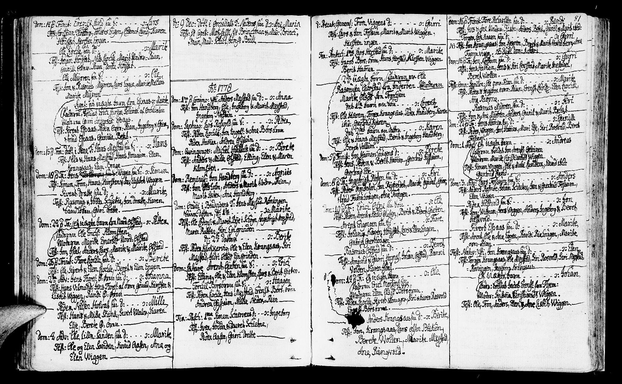 SAT, Ministerialprotokoller, klokkerbøker og fødselsregistre - Sør-Trøndelag, 665/L0768: Ministerialbok nr. 665A03, 1754-1803, s. 81