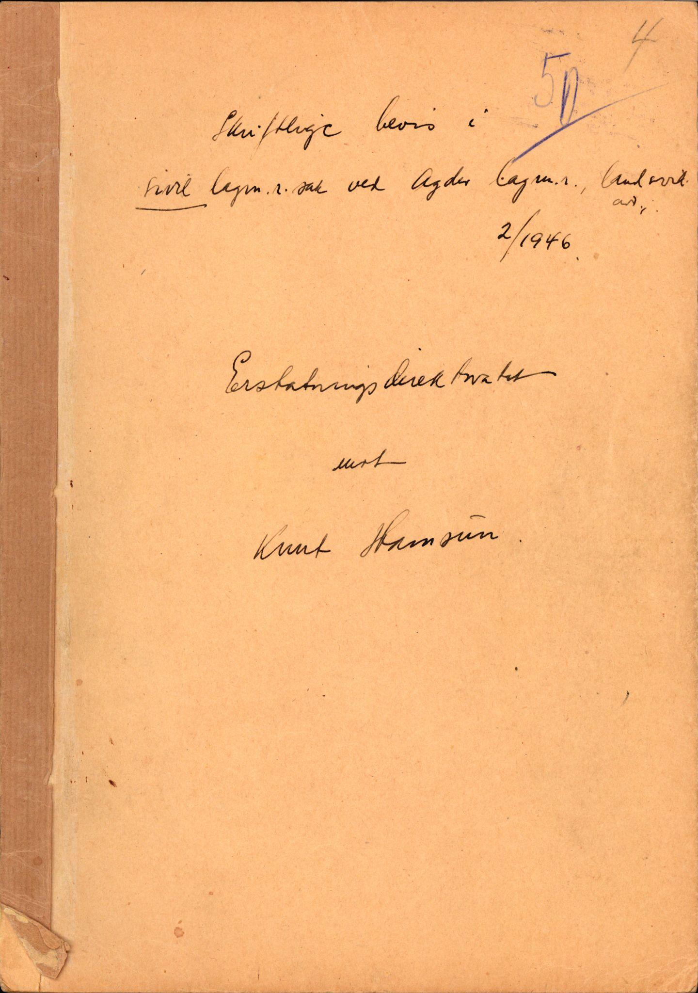 RA, Landssvikarkivet, Arendal politikammer, D/Dc/L0029: Anr. 192/45, 1945-1951, s. 464