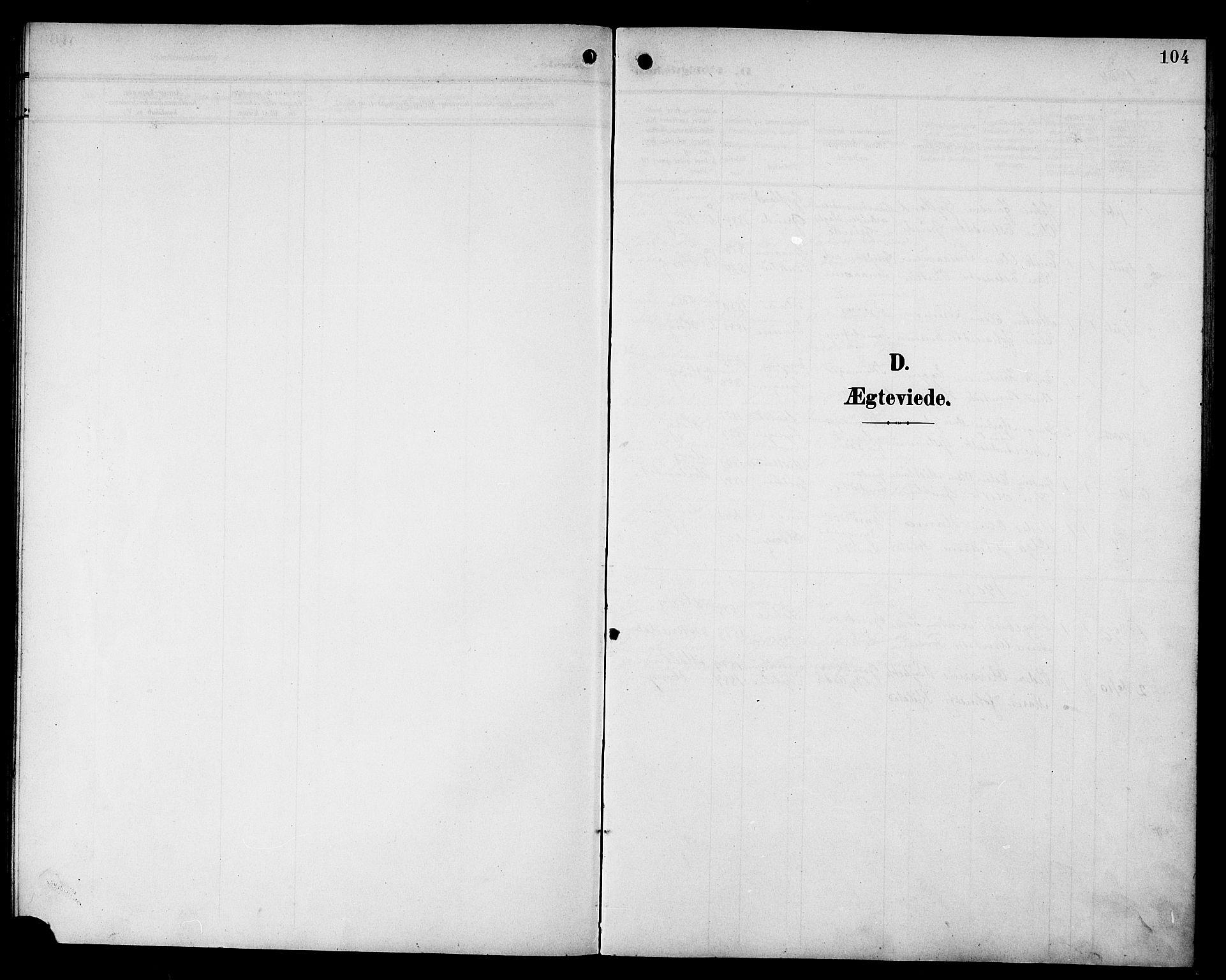 SAT, Ministerialprotokoller, klokkerbøker og fødselsregistre - Sør-Trøndelag, 692/L1112: Klokkerbok nr. 692C07, 1904-1918, s. 104