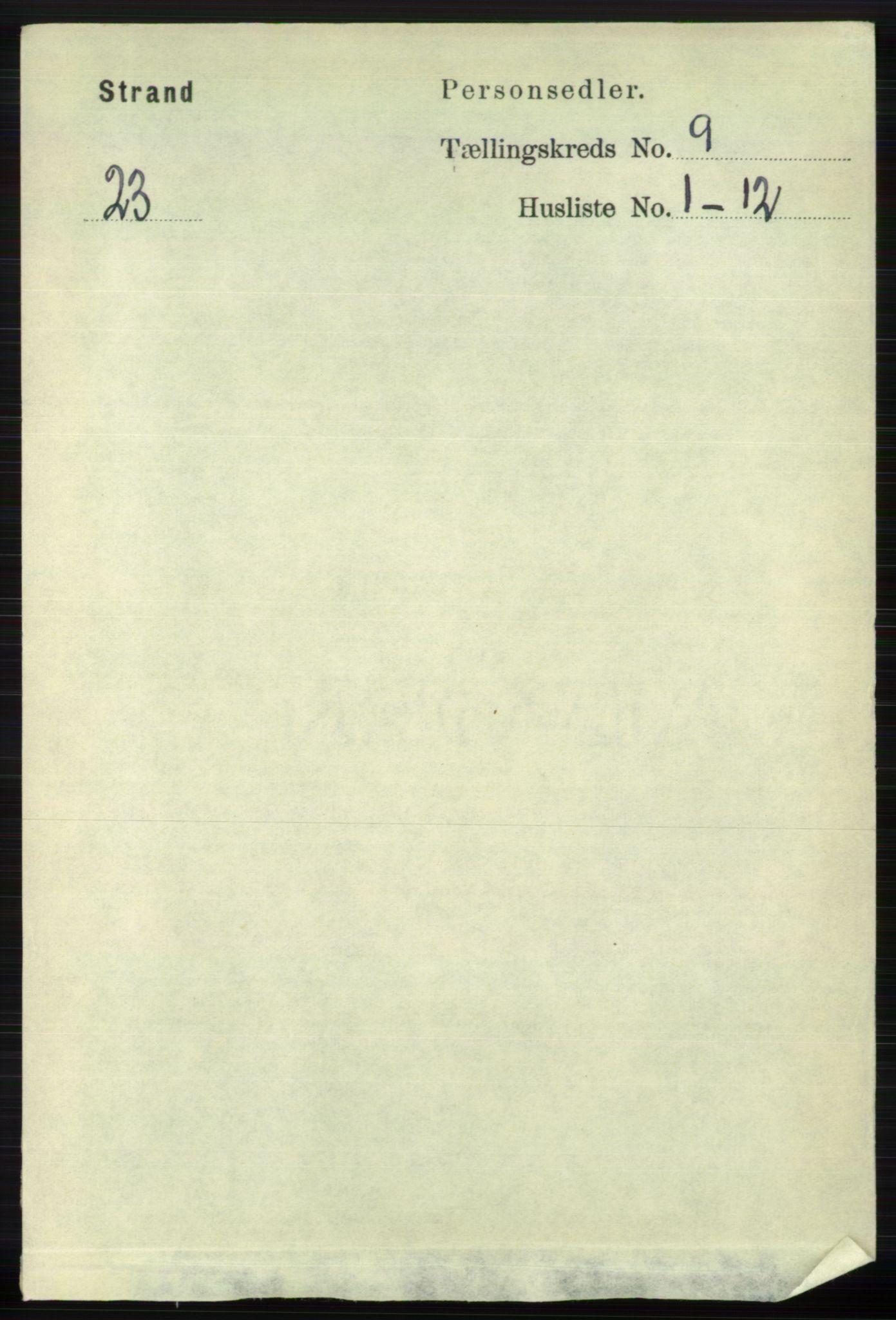 RA, Folketelling 1891 for 1130 Strand herred, 1891, s. 2624