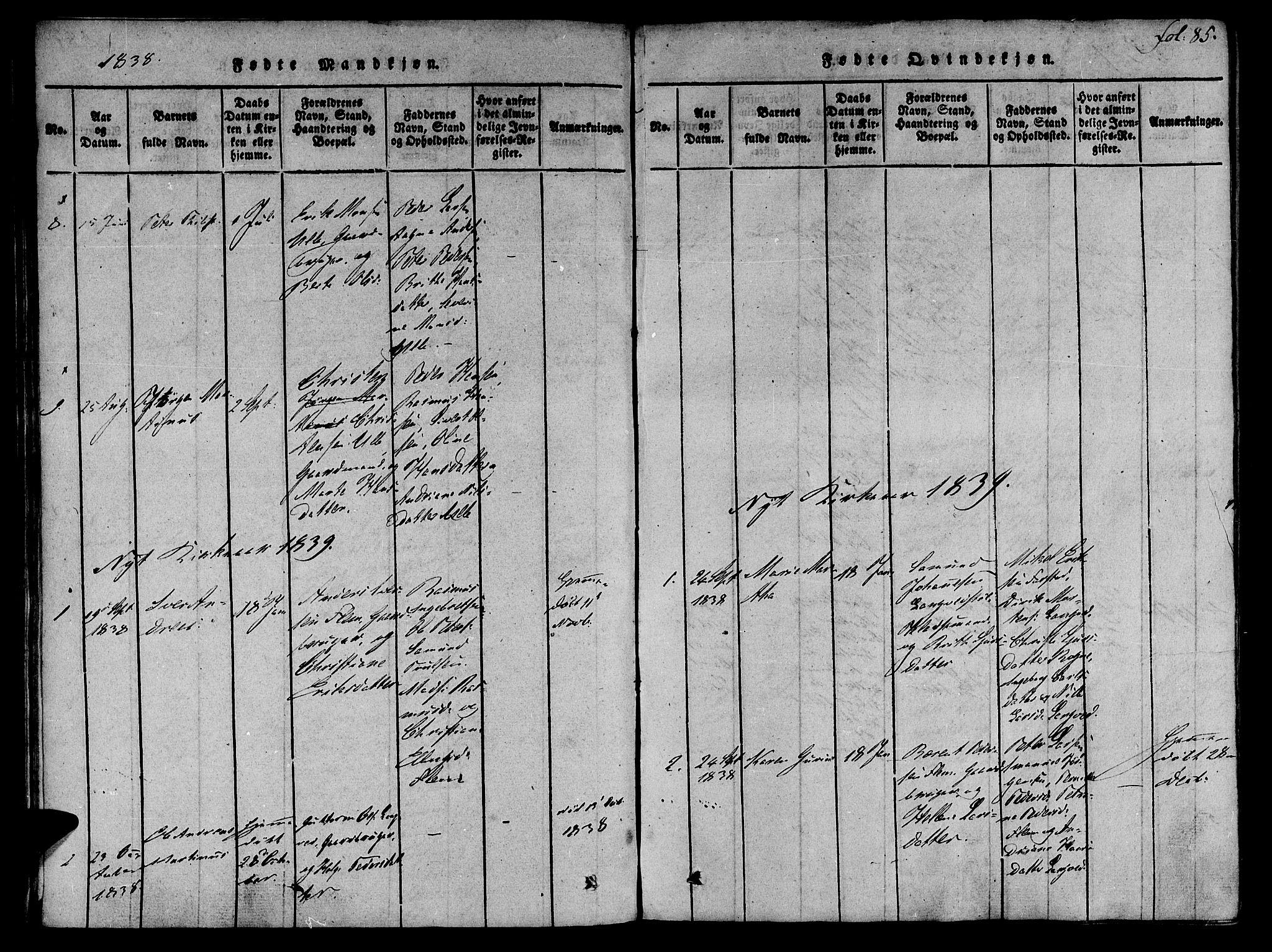 SAT, Ministerialprotokoller, klokkerbøker og fødselsregistre - Møre og Romsdal, 536/L0495: Ministerialbok nr. 536A04, 1818-1847, s. 85