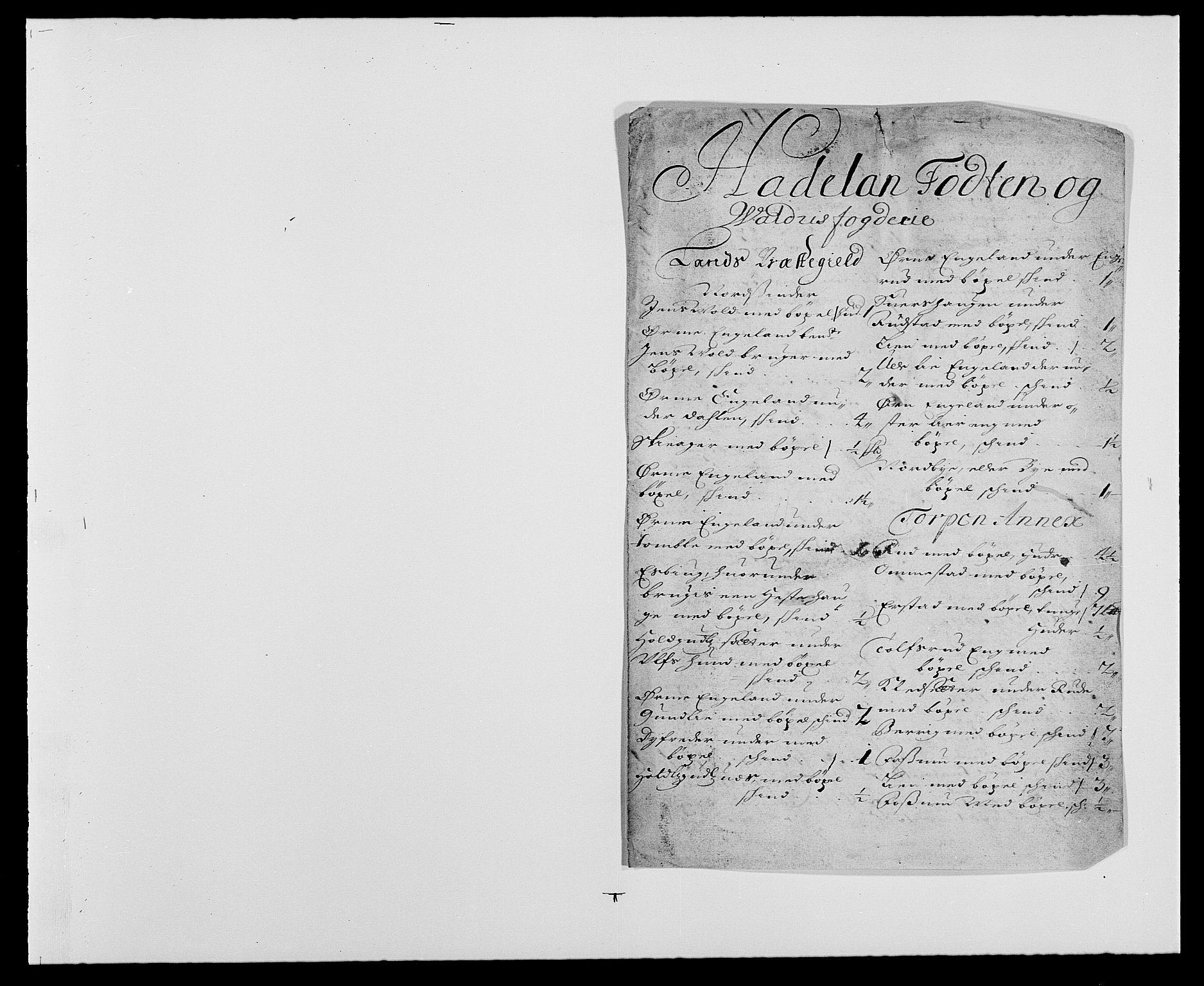RA, Rentekammeret inntil 1814, Reviderte regnskaper, Fogderegnskap, R18/L1270: Fogderegnskap Hadeland, Toten og Valdres, 1678, s. 14