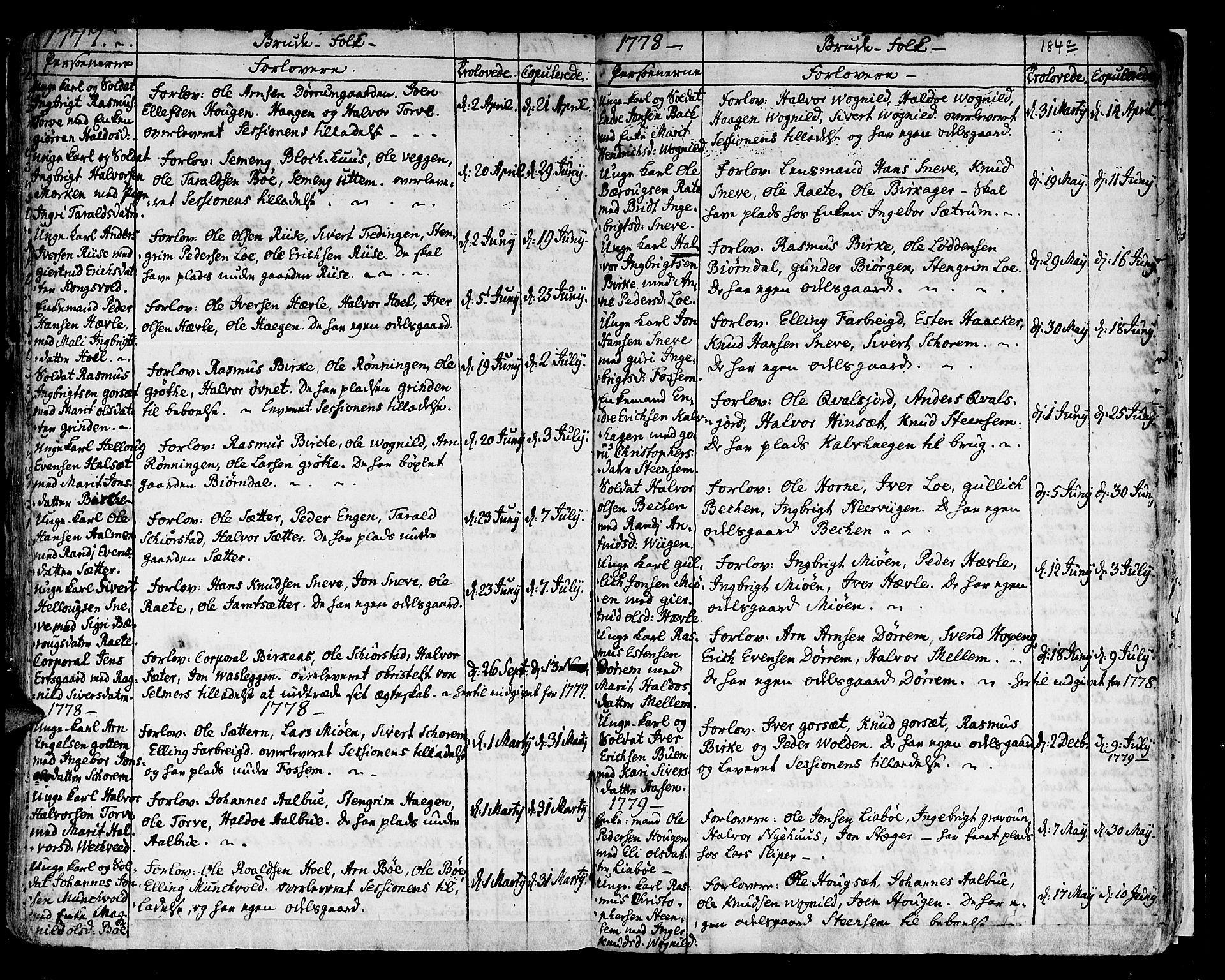 SAT, Ministerialprotokoller, klokkerbøker og fødselsregistre - Sør-Trøndelag, 678/L0891: Ministerialbok nr. 678A01, 1739-1780, s. 184d
