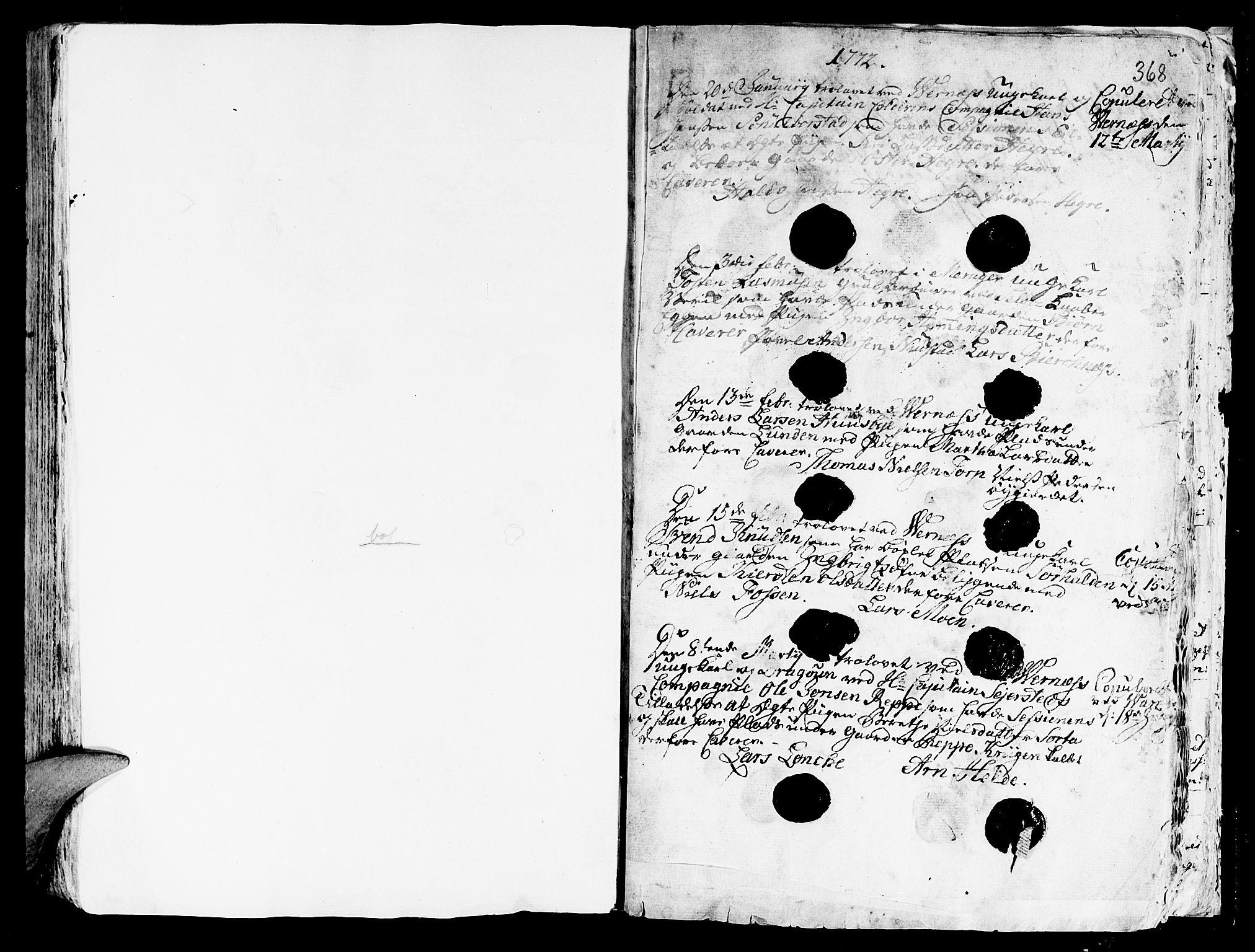 SAT, Ministerialprotokoller, klokkerbøker og fødselsregistre - Nord-Trøndelag, 709/L0057: Ministerialbok nr. 709A05, 1755-1780, s. 368
