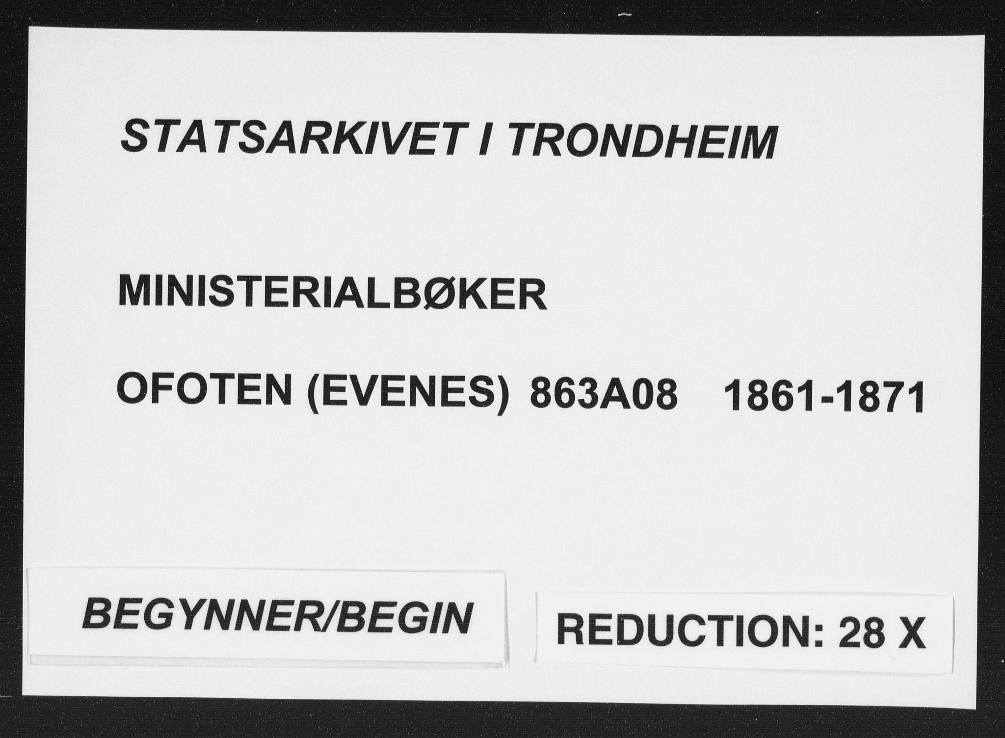 SAT, Ministerialprotokoller, klokkerbøker og fødselsregistre - Nordland, 863/L0896: Ministerialbok nr. 863A08, 1861-1871