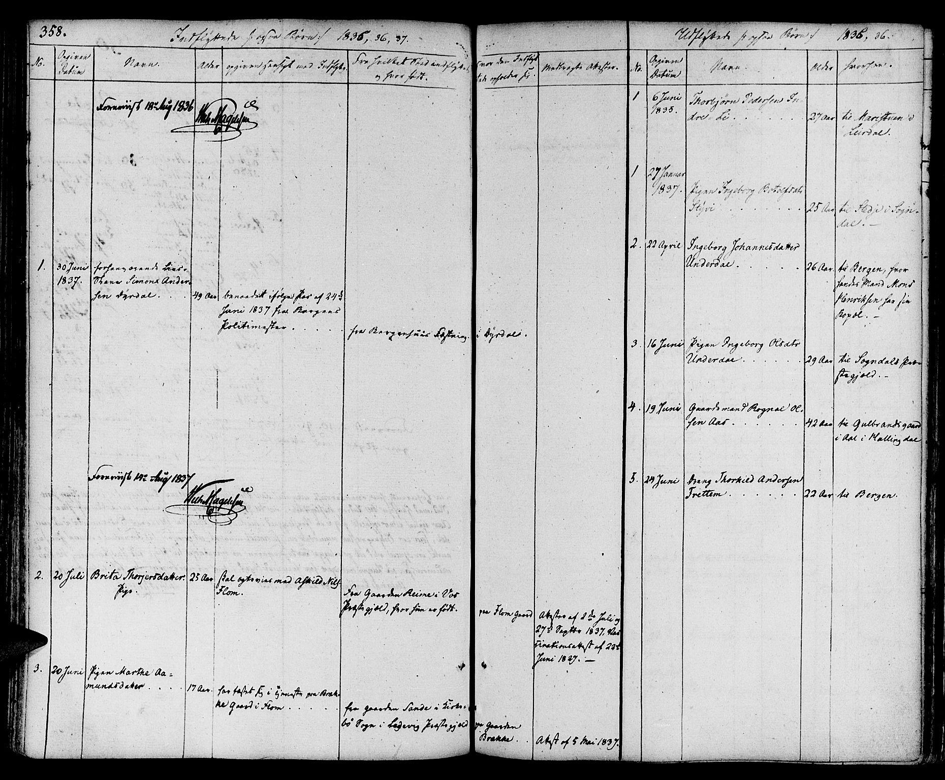 SAB, Aurland Sokneprestembete*, Ministerialbok nr. A 6, 1821-1859, s. 358