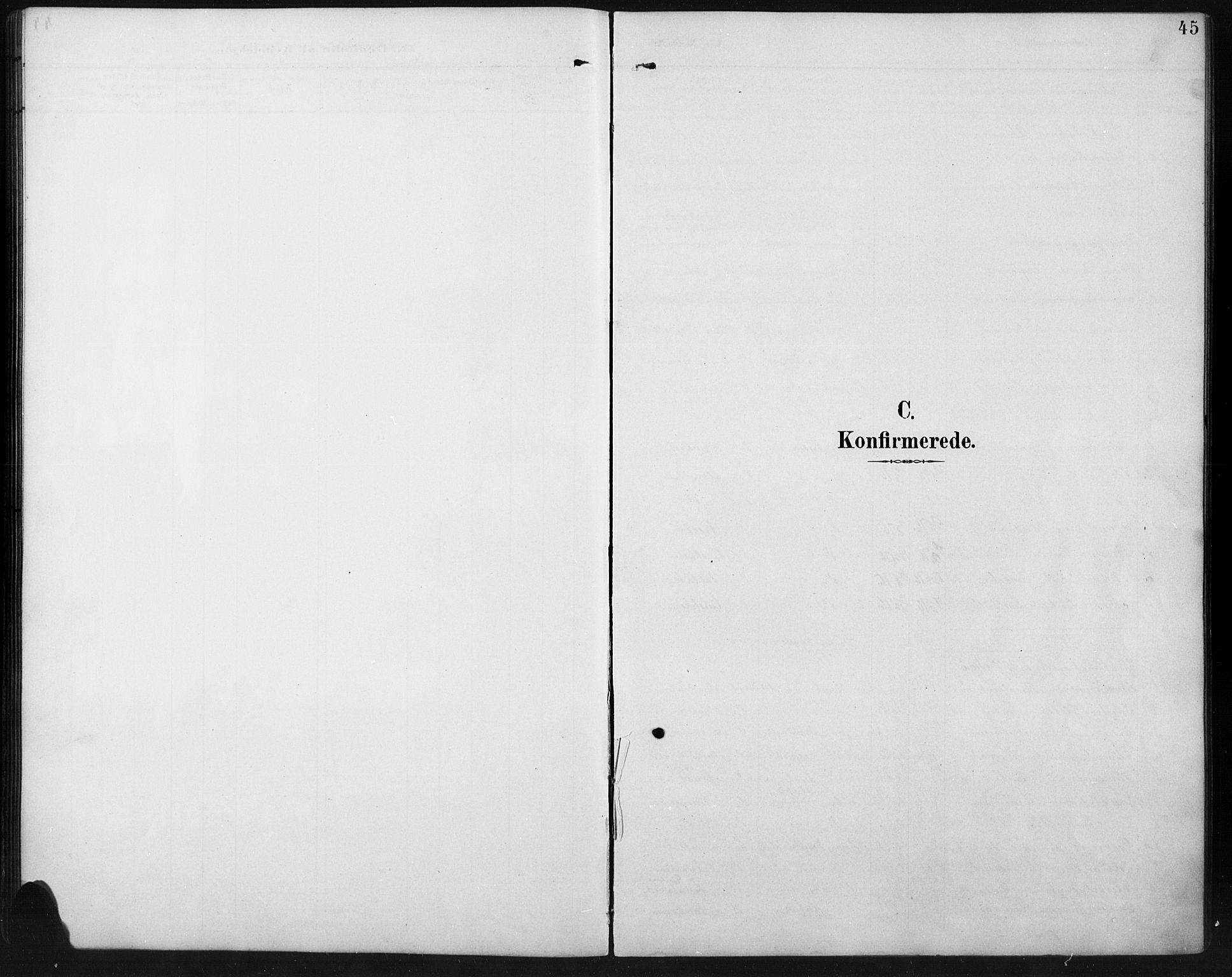 SAH, Ringebu prestekontor, Klokkerbok nr. 8, 1890-1922, s. 45