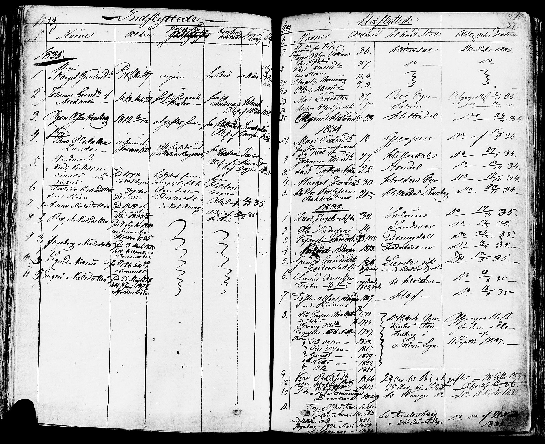 SAKO, Sauherad kirkebøker, F/Fa/L0006: Ministerialbok nr. I 6, 1827-1850, s. 375
